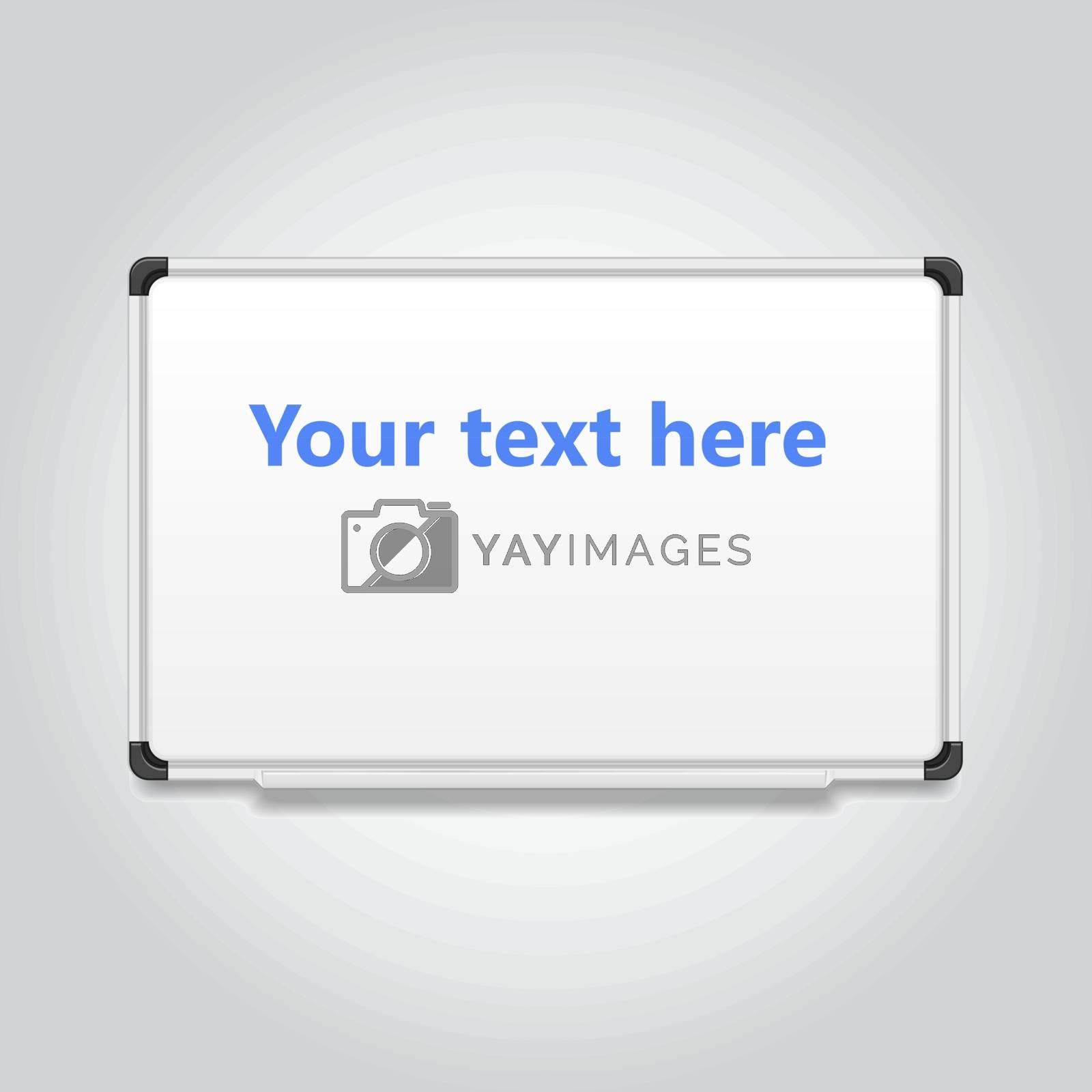 Blank white board,vector illustration