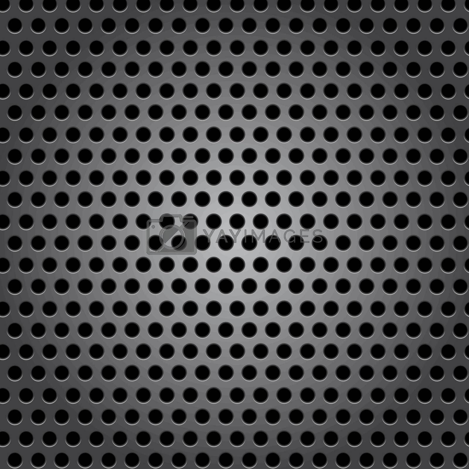 Seamless circle metal surface texture, vector illustration