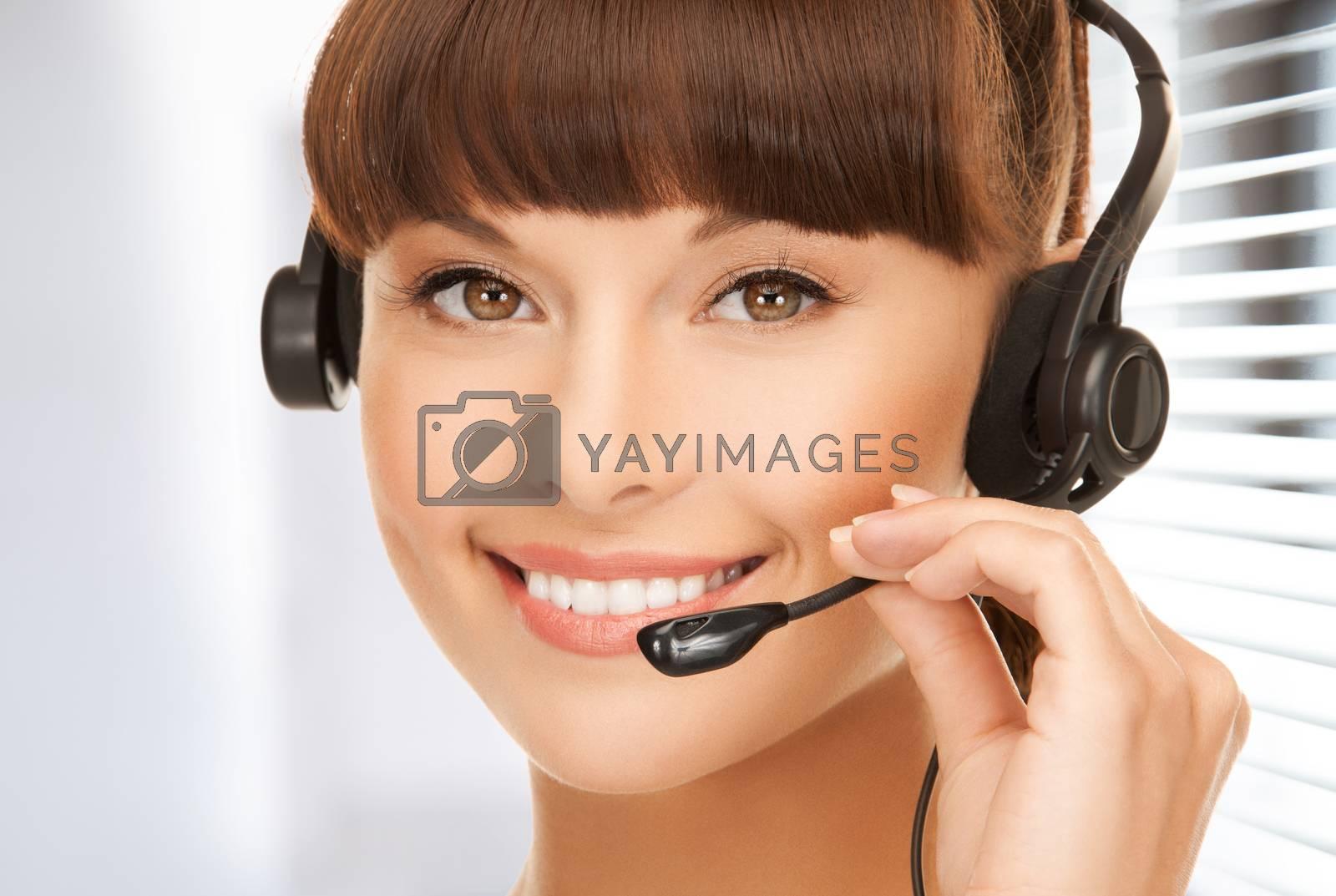 friendly female helpline operator by dolgachov