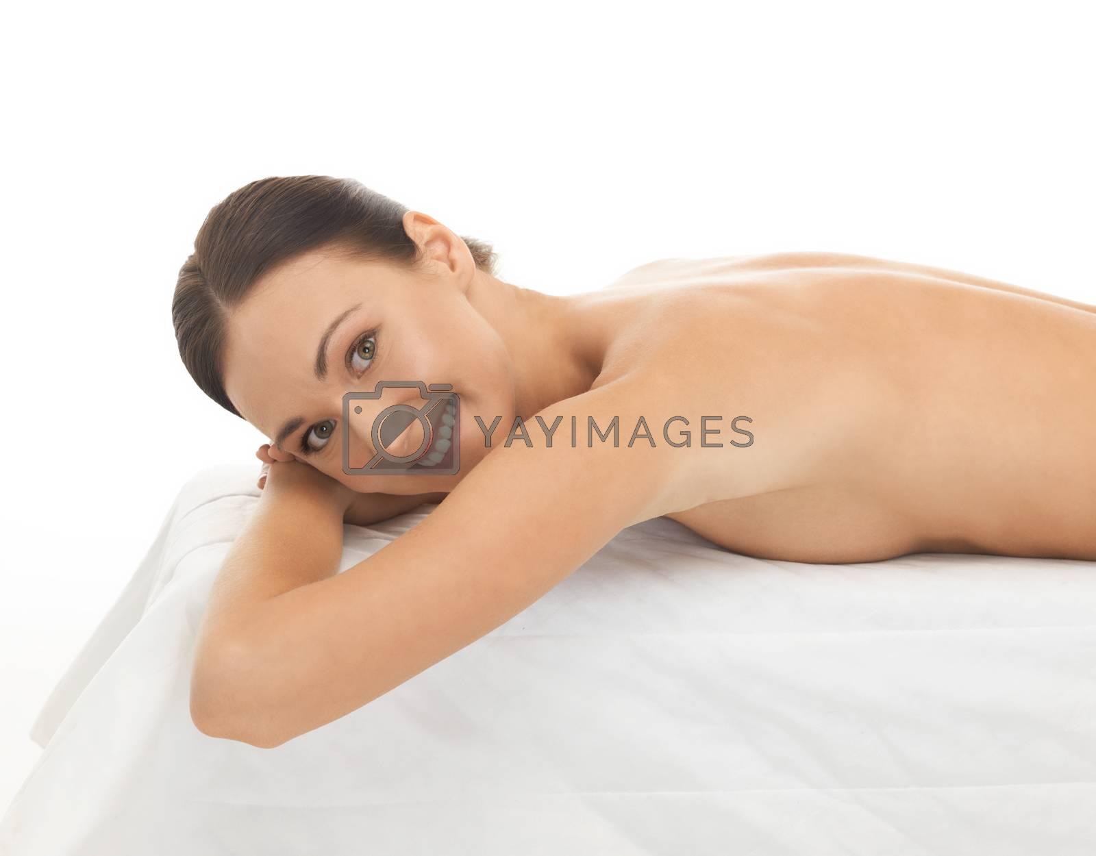 beautiful woman in spa salon by dolgachov