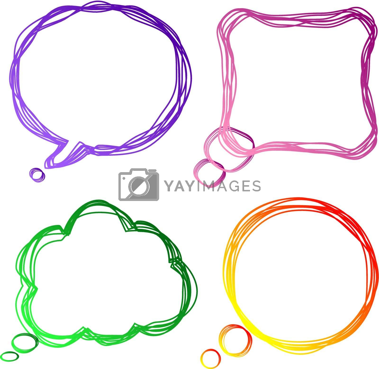 Set of colourful speech Bubbles, vector illustration