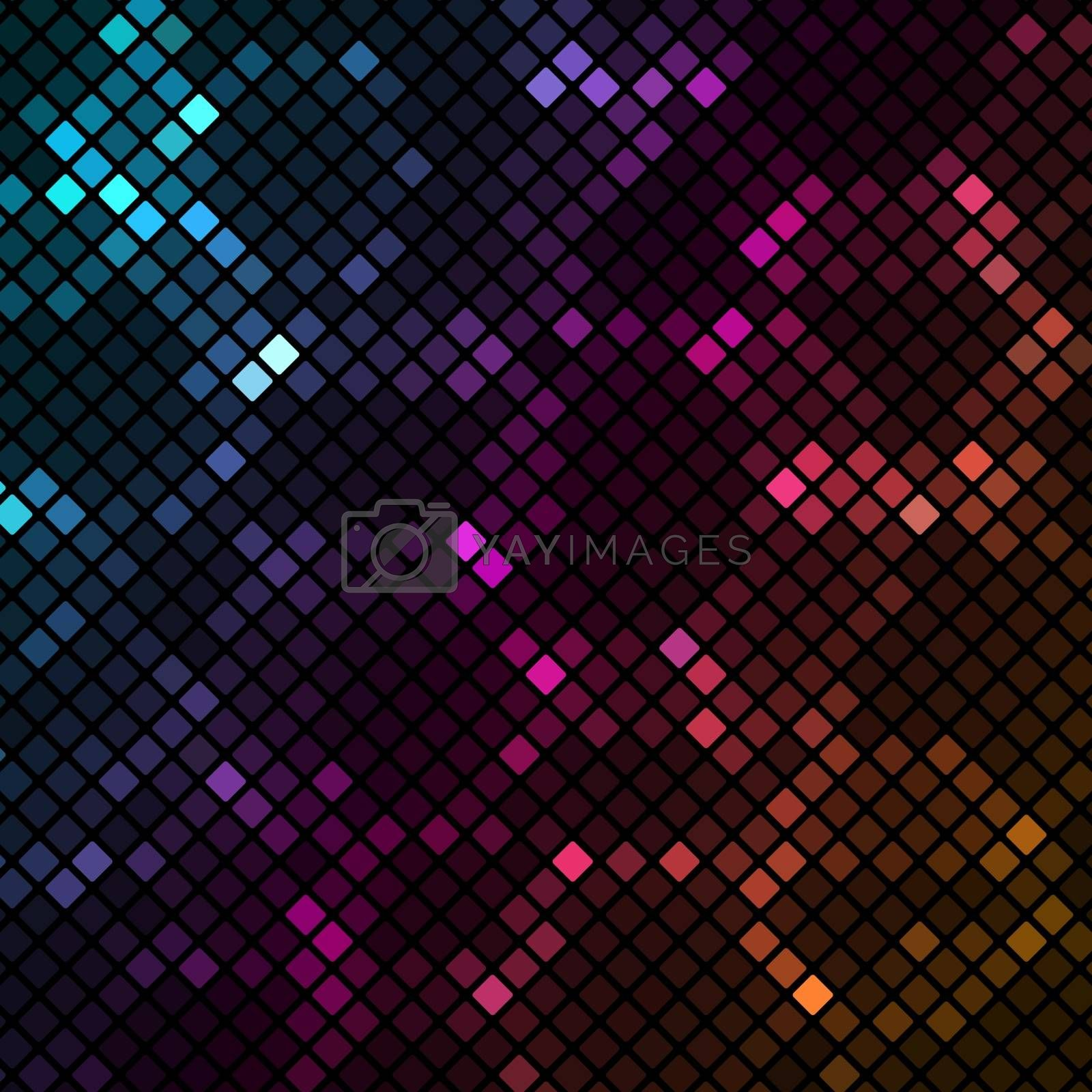 Mosaic with colourful hexagons background, vector illustration