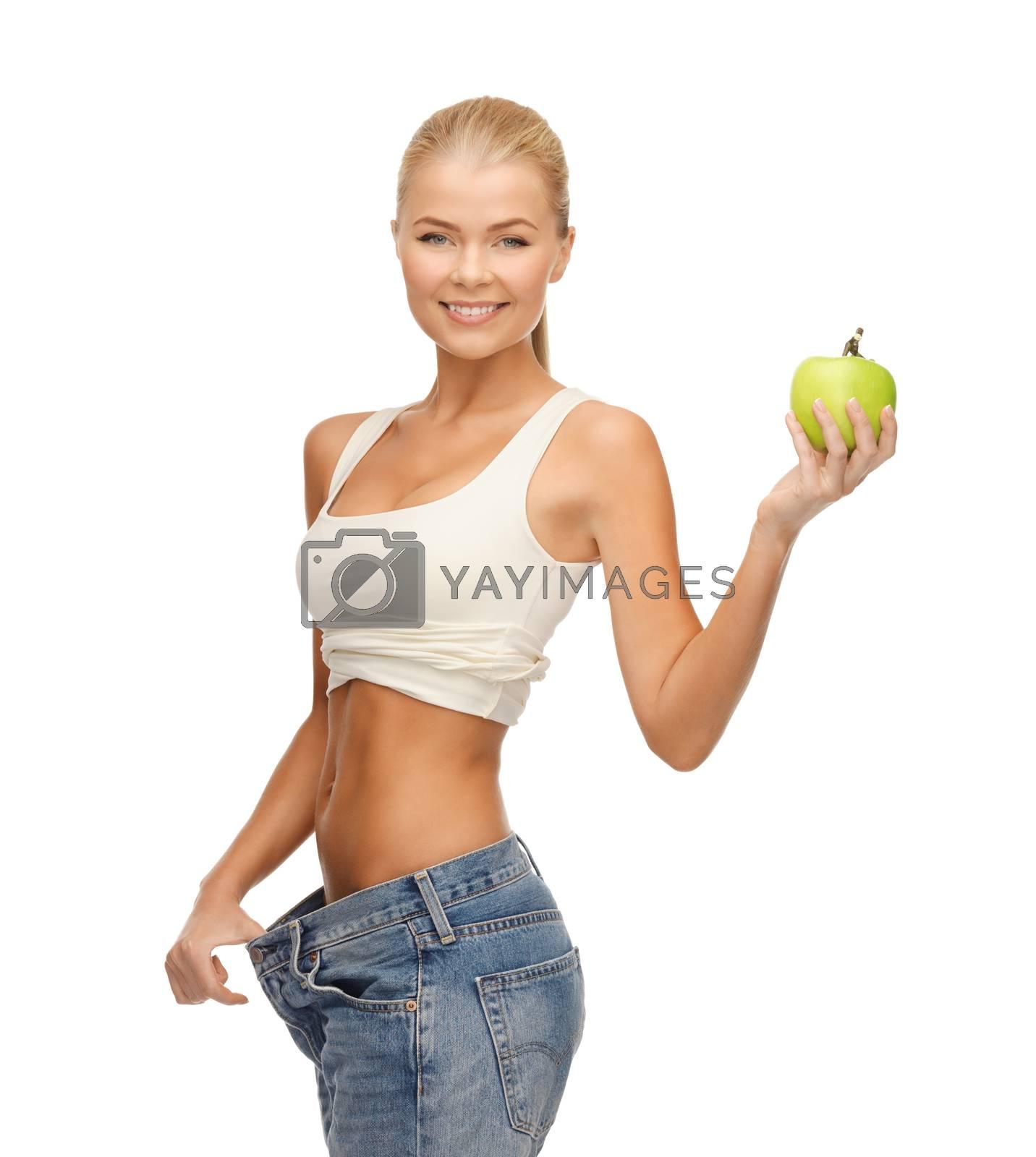 sporty woman showing big pants by dolgachov