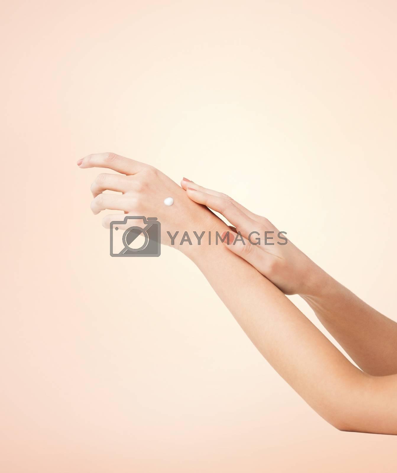female soft skin hands by dolgachov