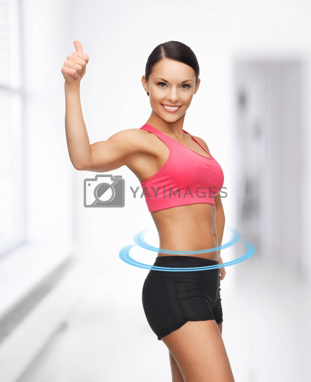 beautiful sporty woman by dolgachov