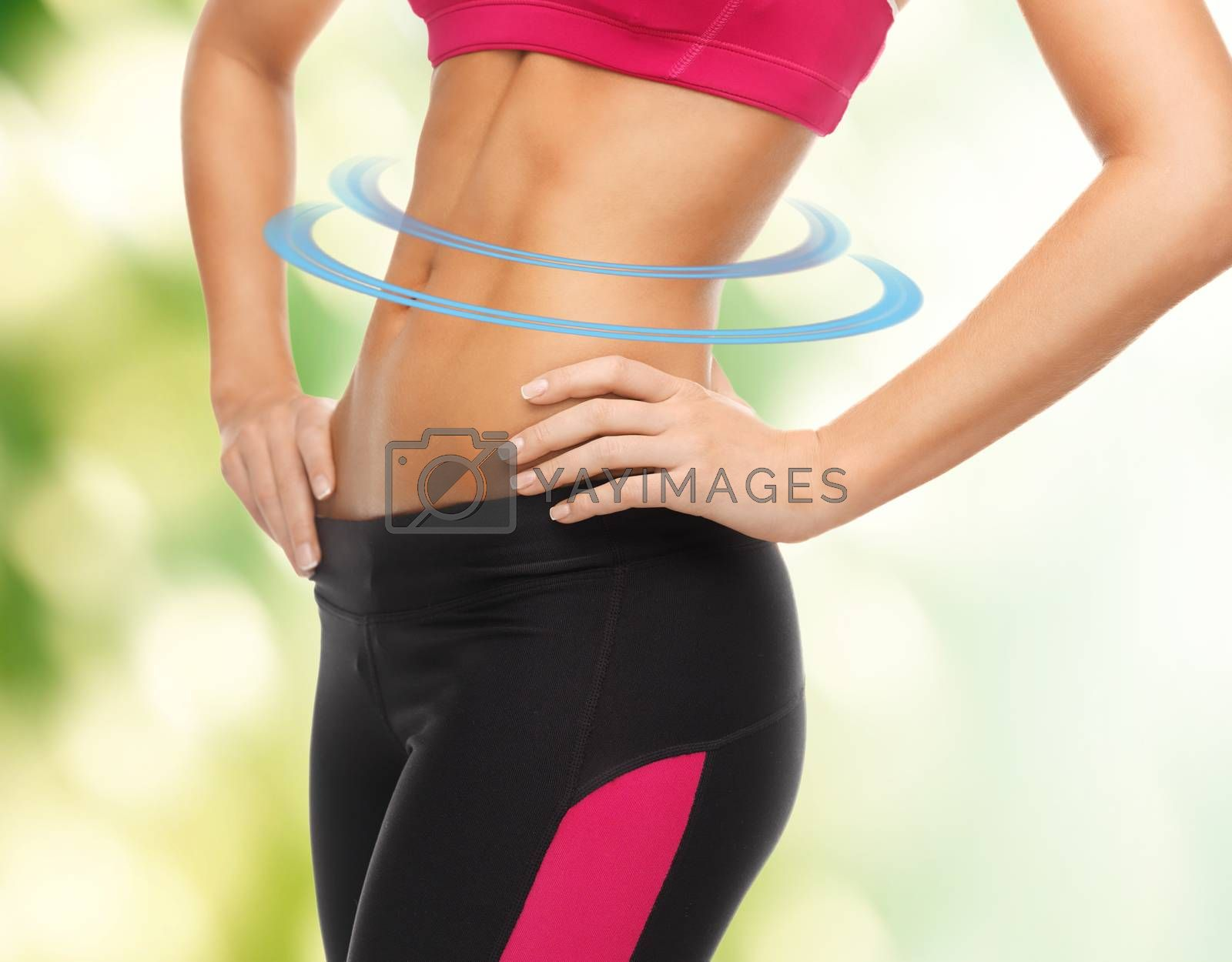 woman trained abs by dolgachov