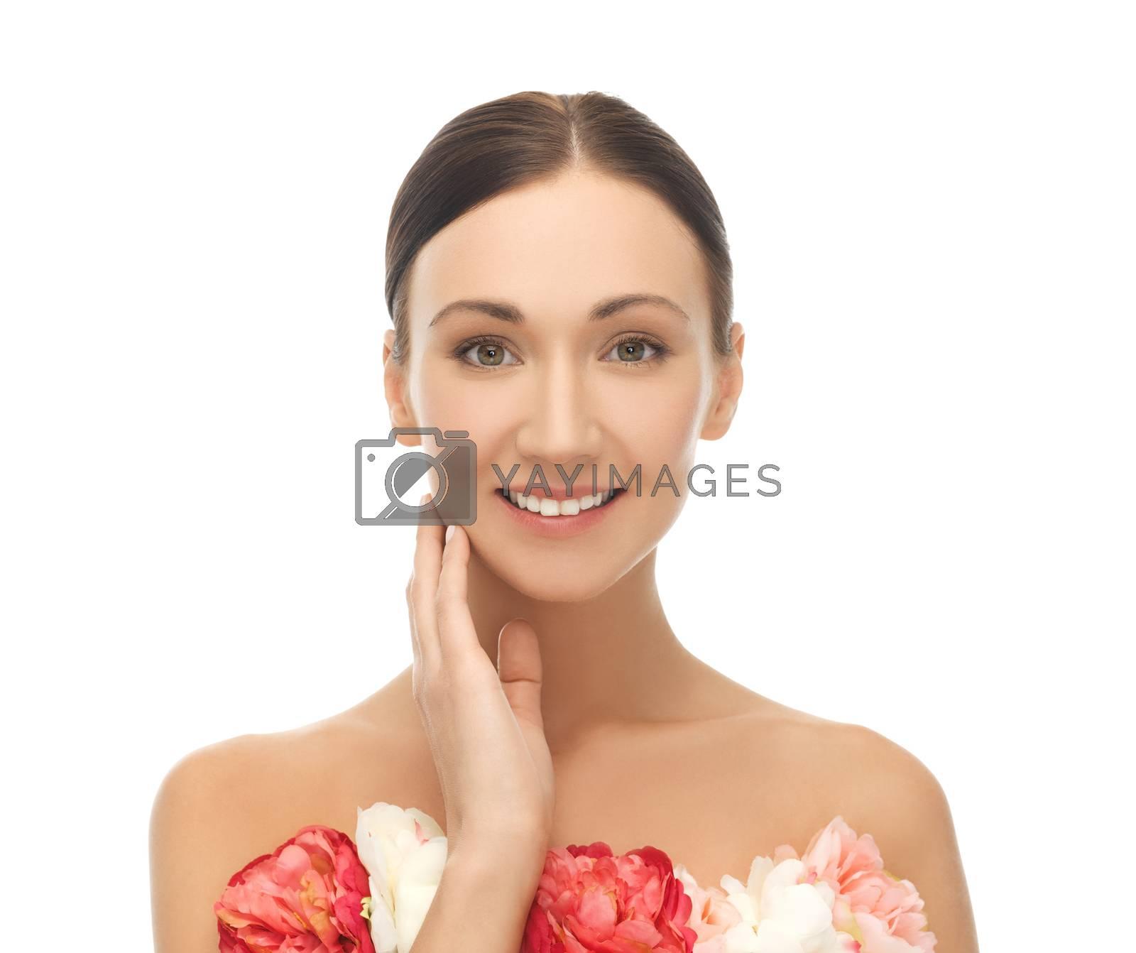woman with flowers by dolgachov