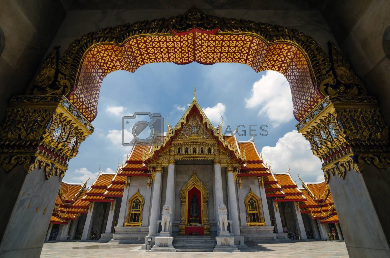Wat Benjamabophit-The Marble Temple in Bangkok, Thailand  by siraanamwong