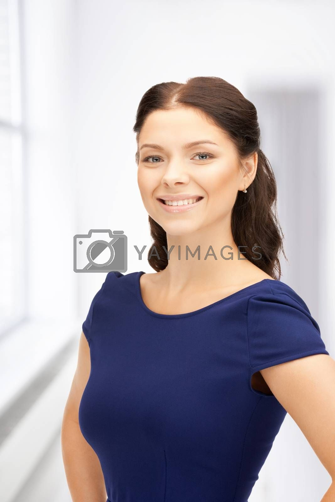 happy and smiling woman by dolgachov