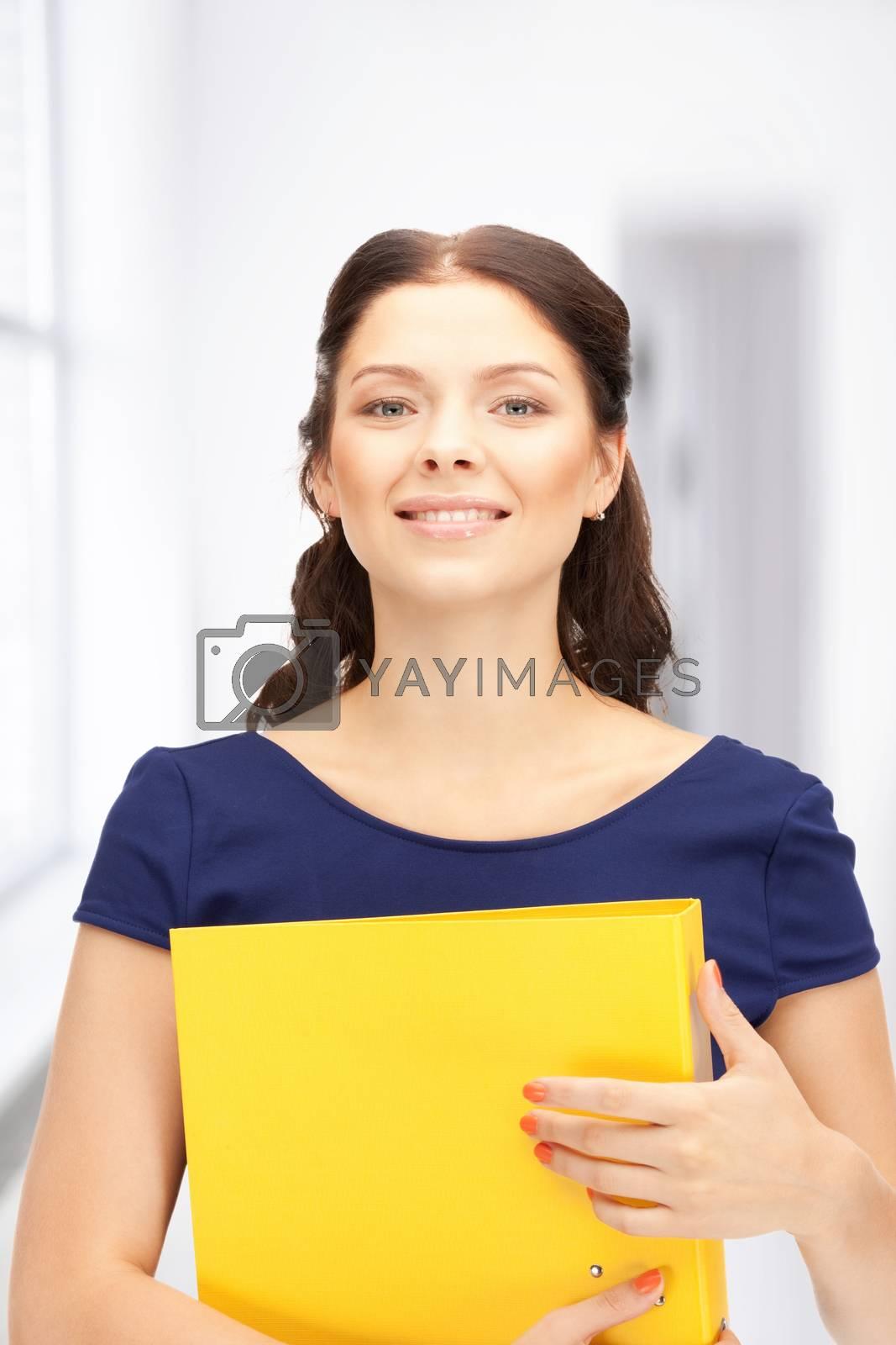 woman with folders by dolgachov