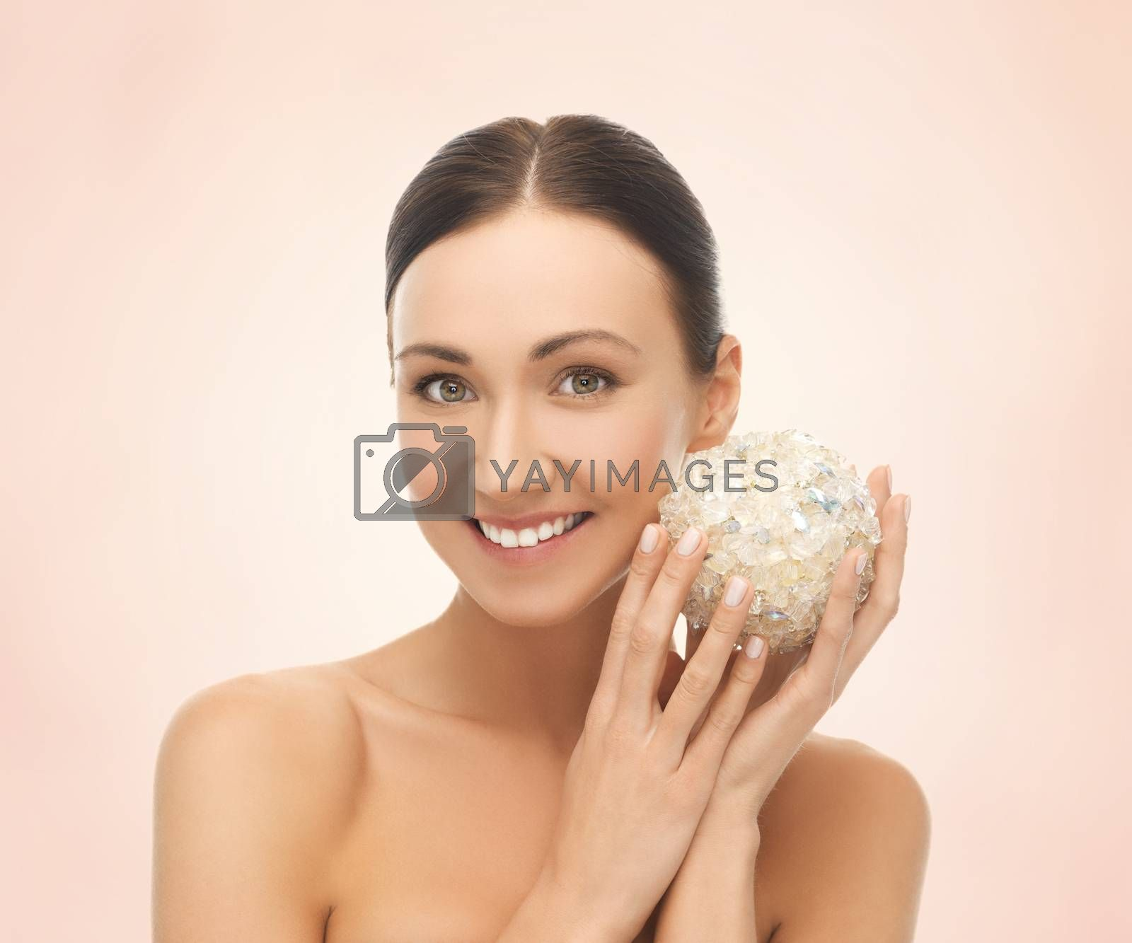 woman with salt ball for bathing by dolgachov