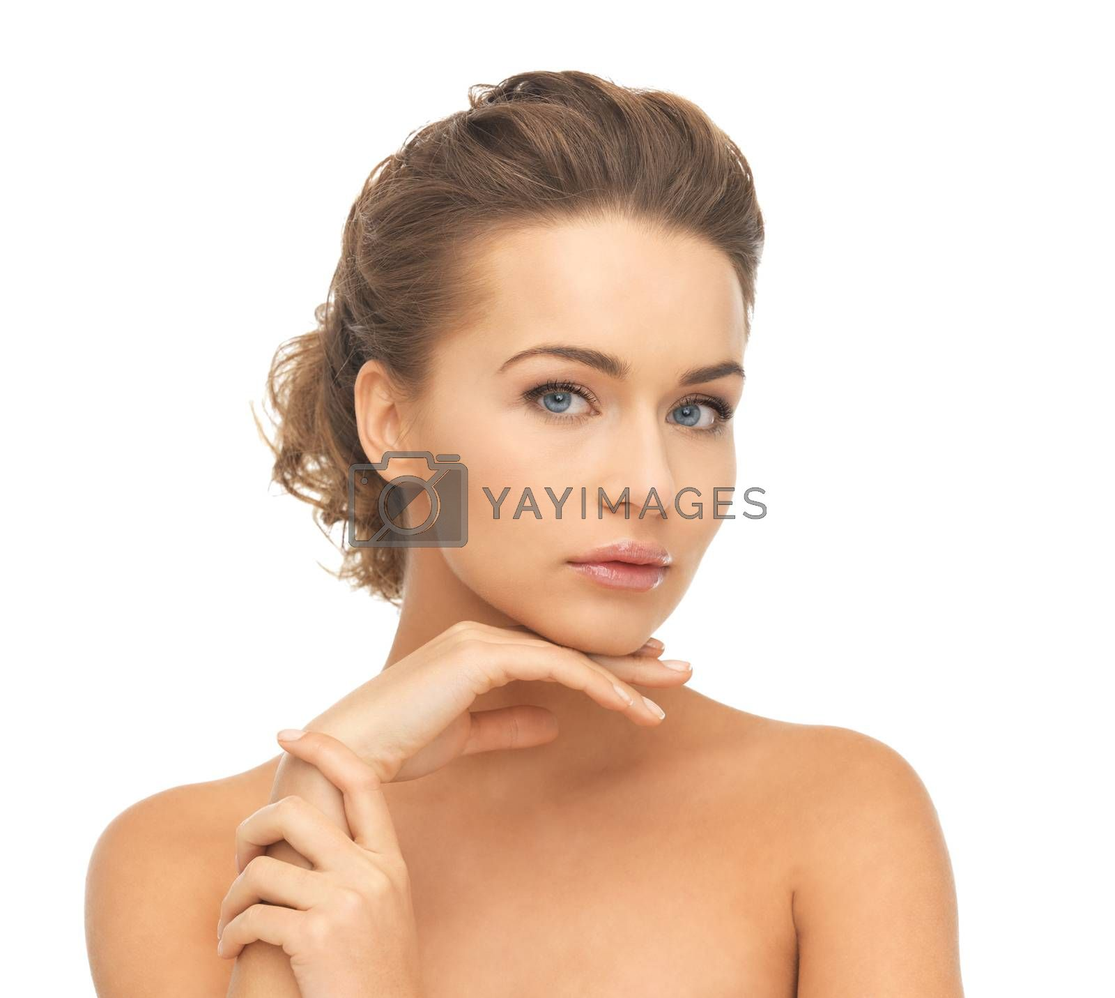 face and hands of beautiful woman by dolgachov