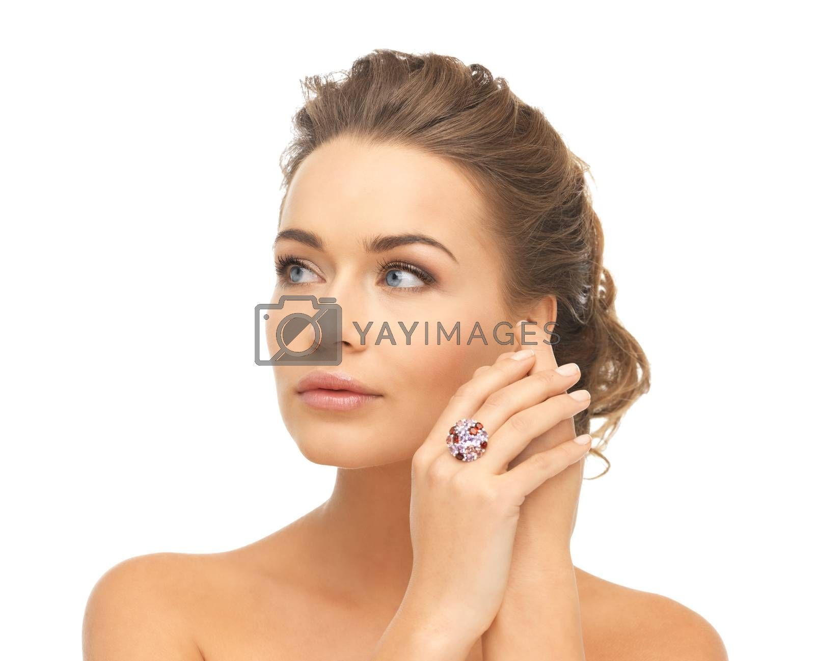 woman with one cocktail ring by dolgachov