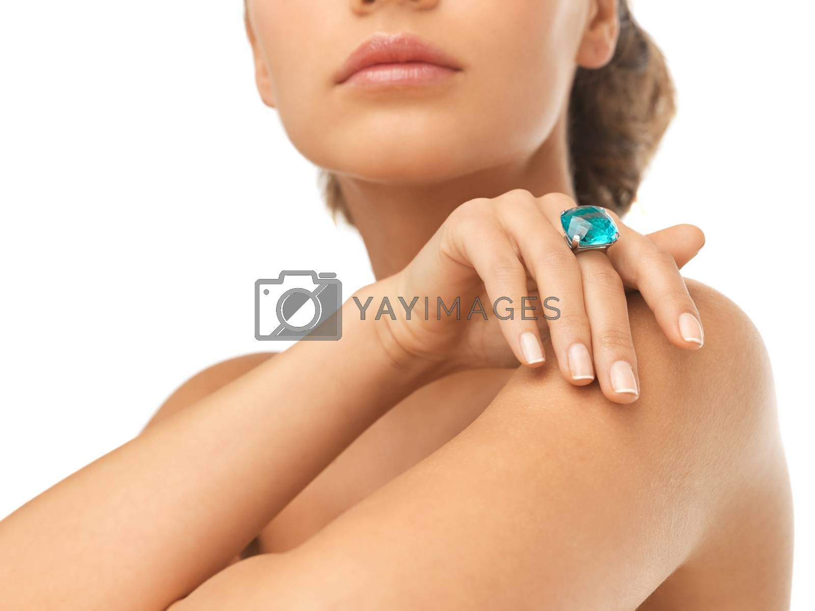 woman with cocktail ring by dolgachov