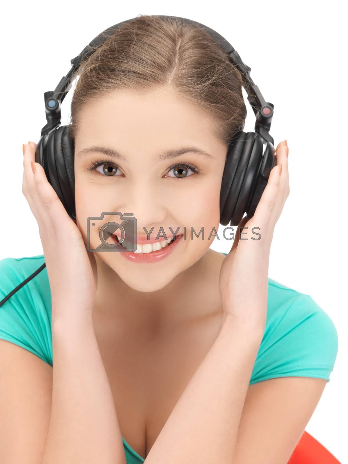 girl with headphones by dolgachov