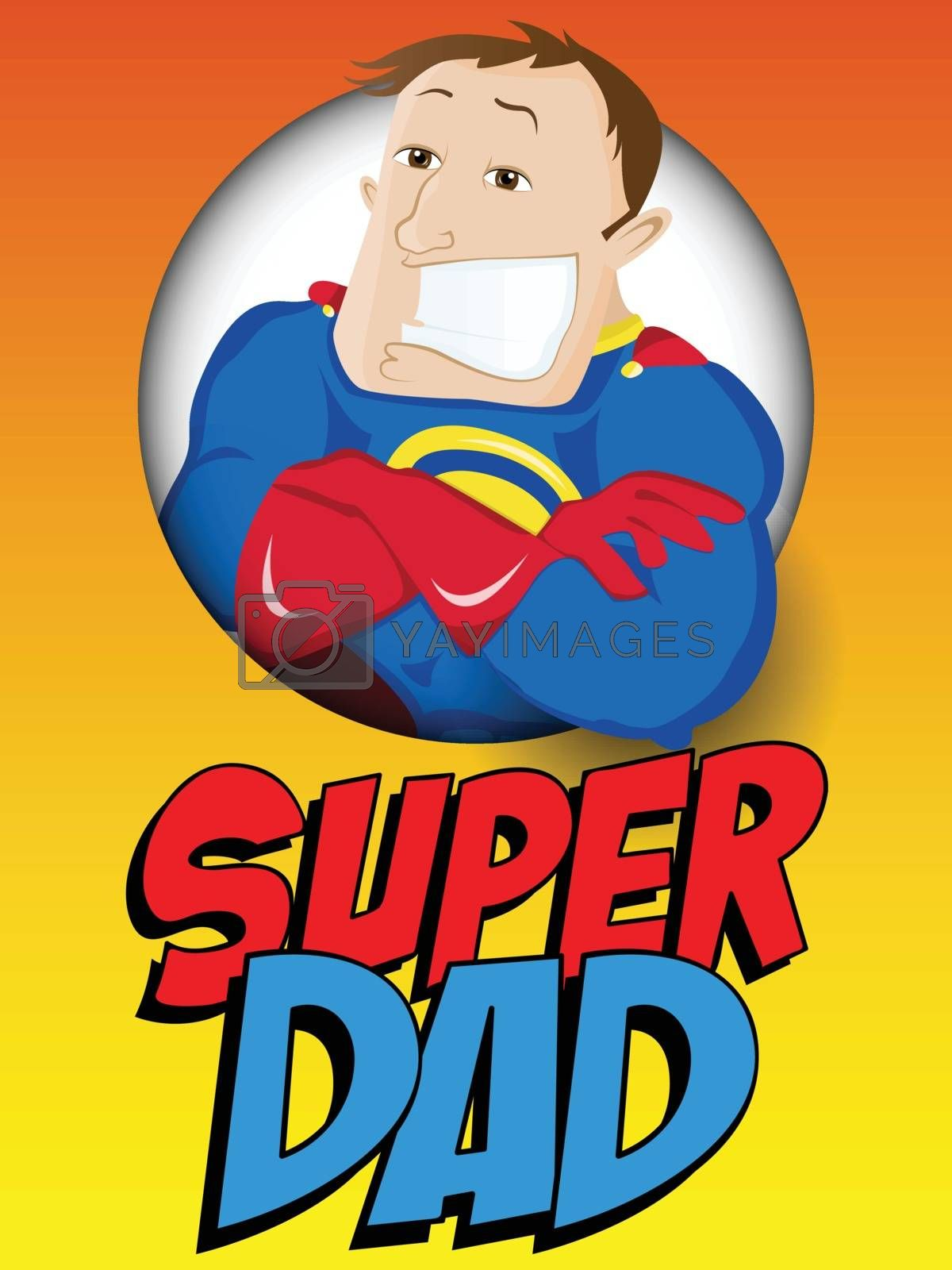 Super Man Hero Dad. Happy Father Day by gubh83