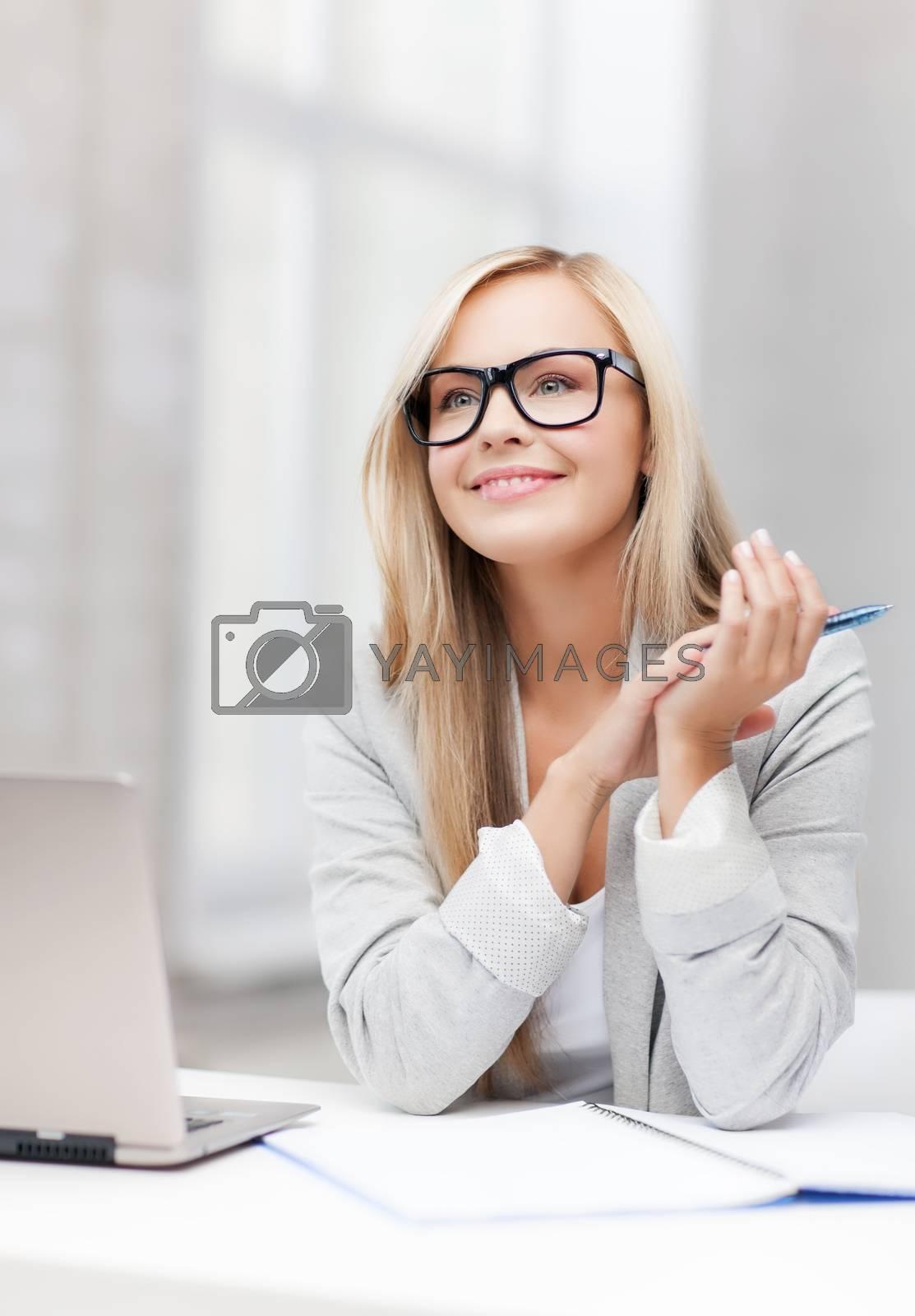 businesswoman on a meeting by dolgachov