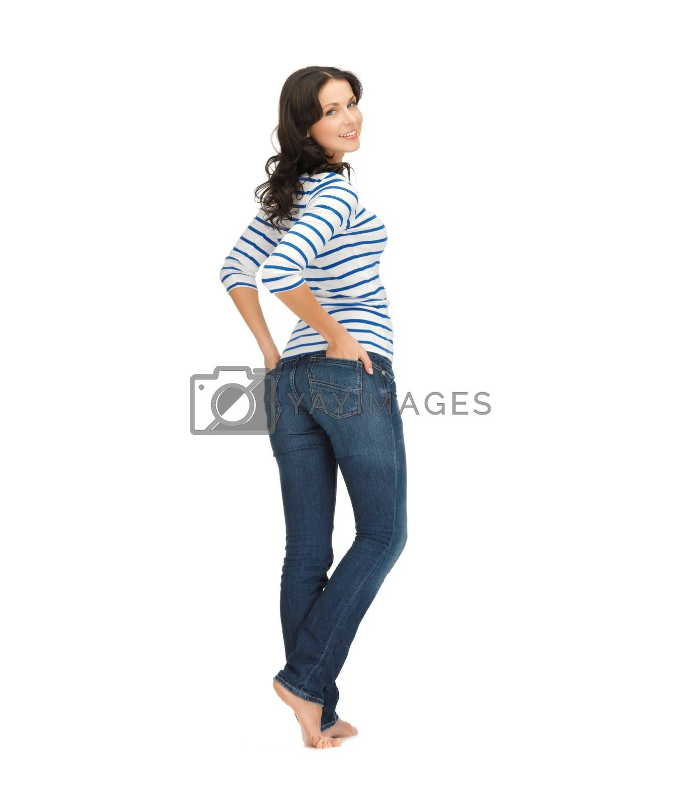 woman wearing jeans by dolgachov