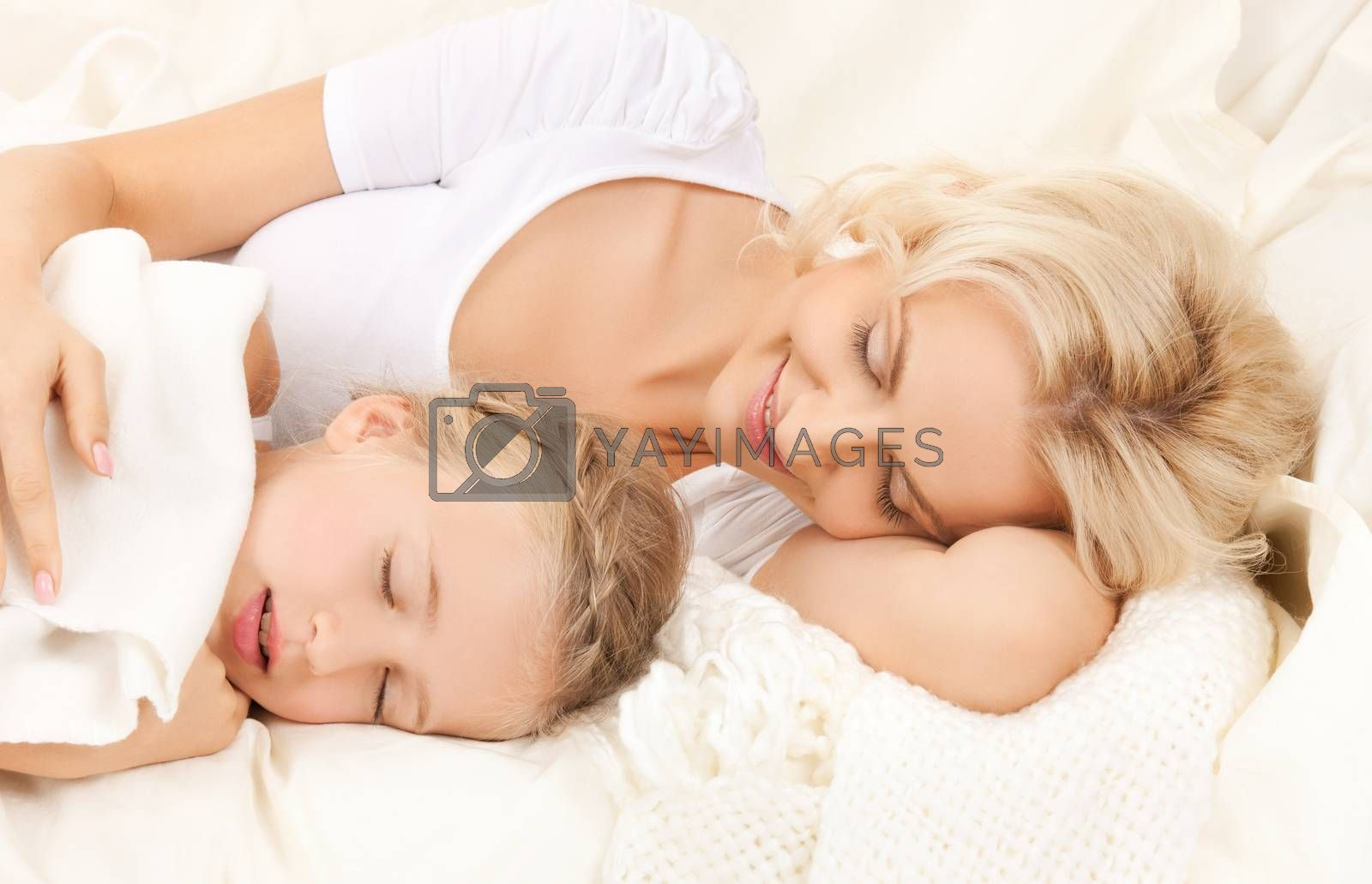 mother and daughter sleeping by dolgachov