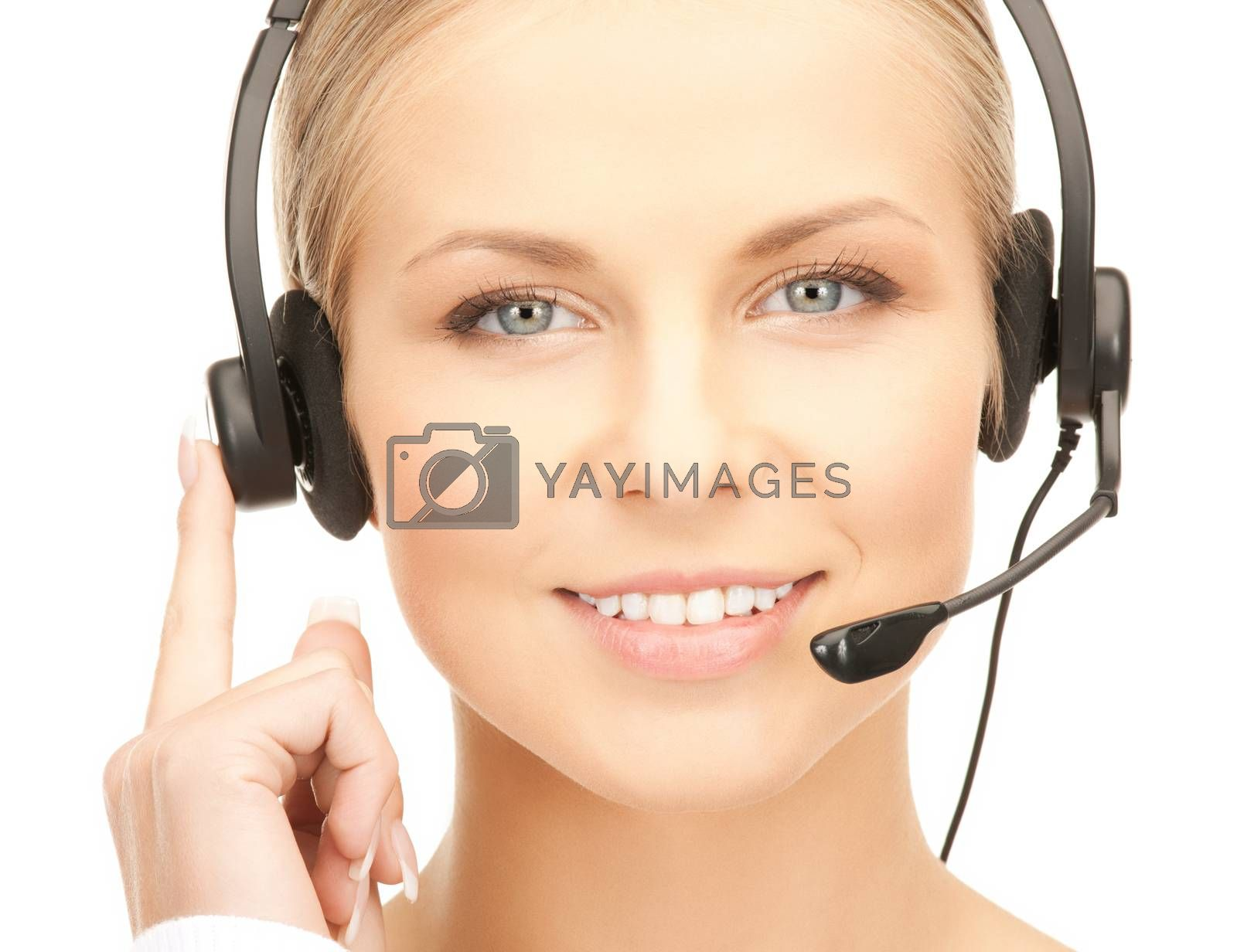 friendly female helpline operator by dolgachov
