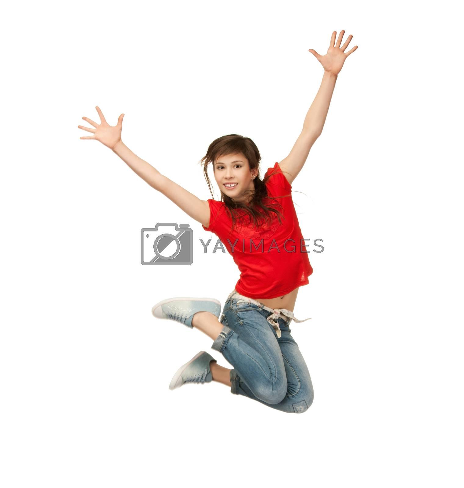 girl jumping by dolgachov