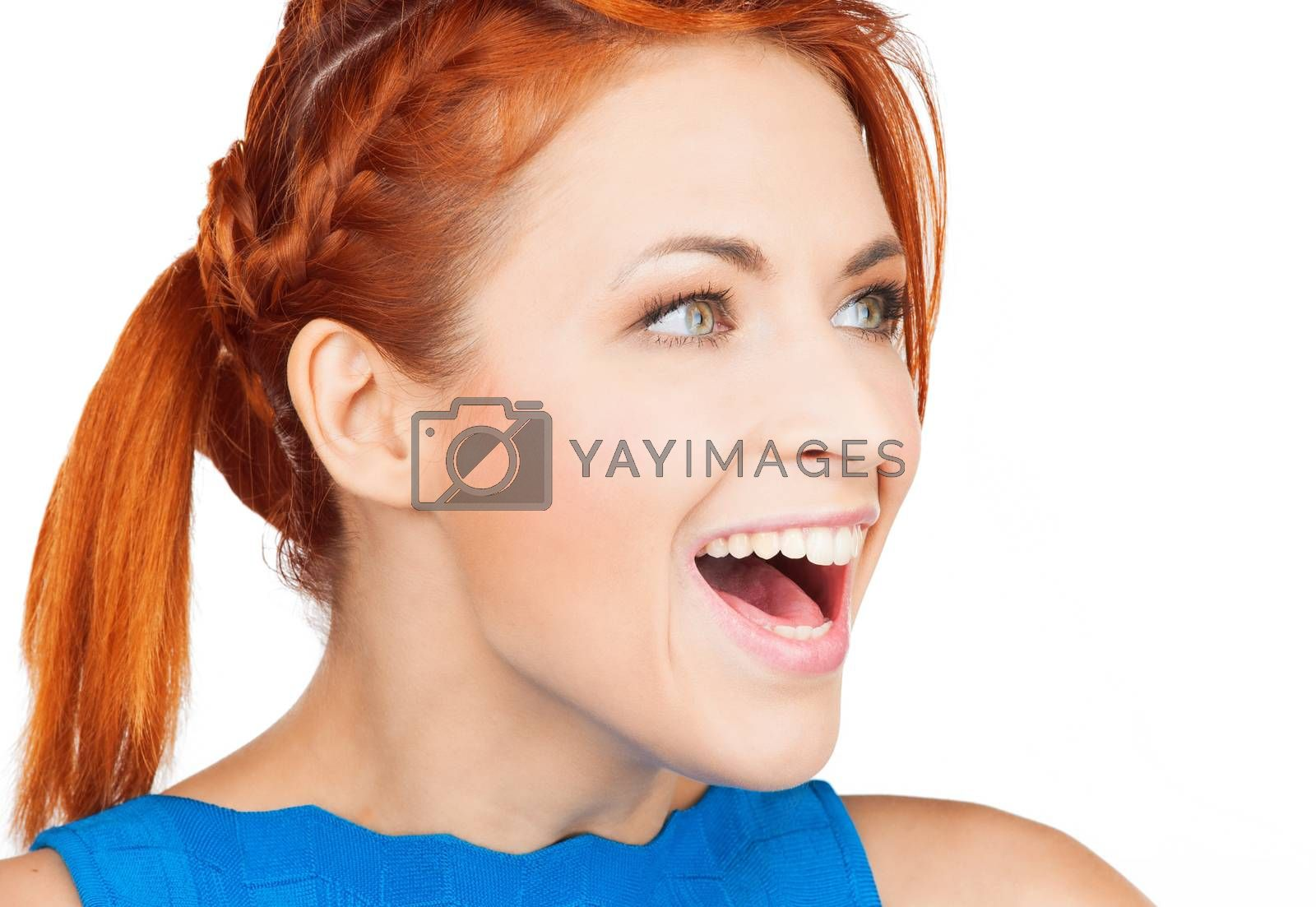 excited face of woman by dolgachov