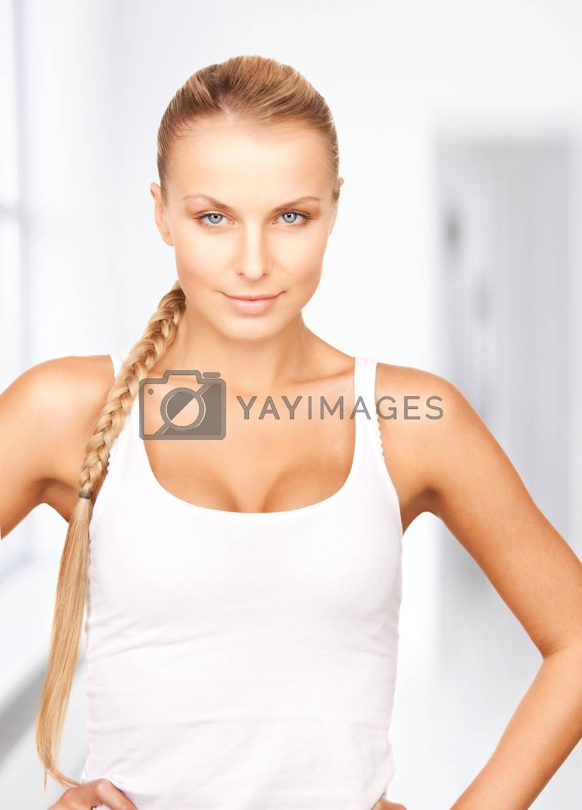 beautiful woman in cotton underwear by dolgachov