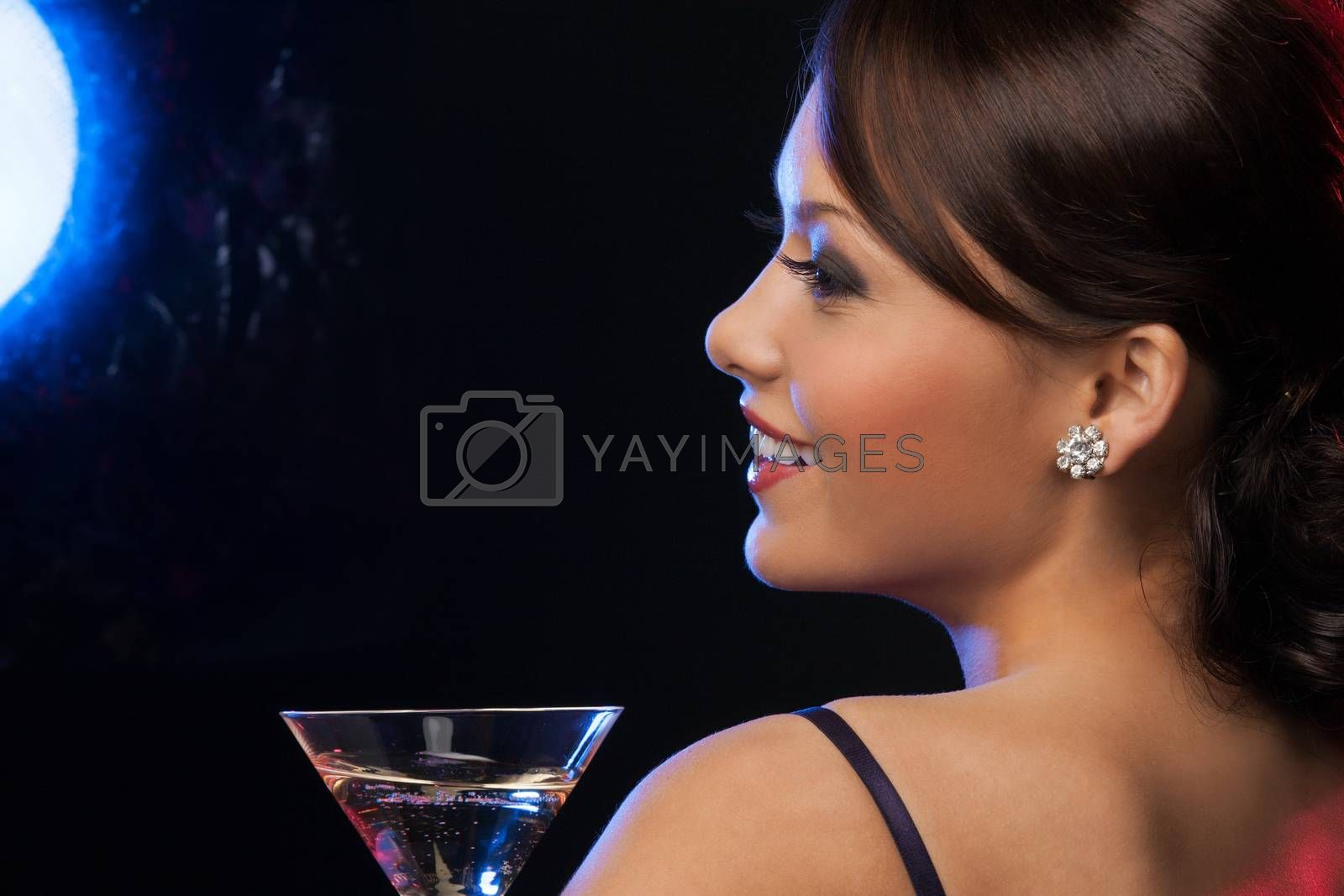 woman with cocktail by dolgachov