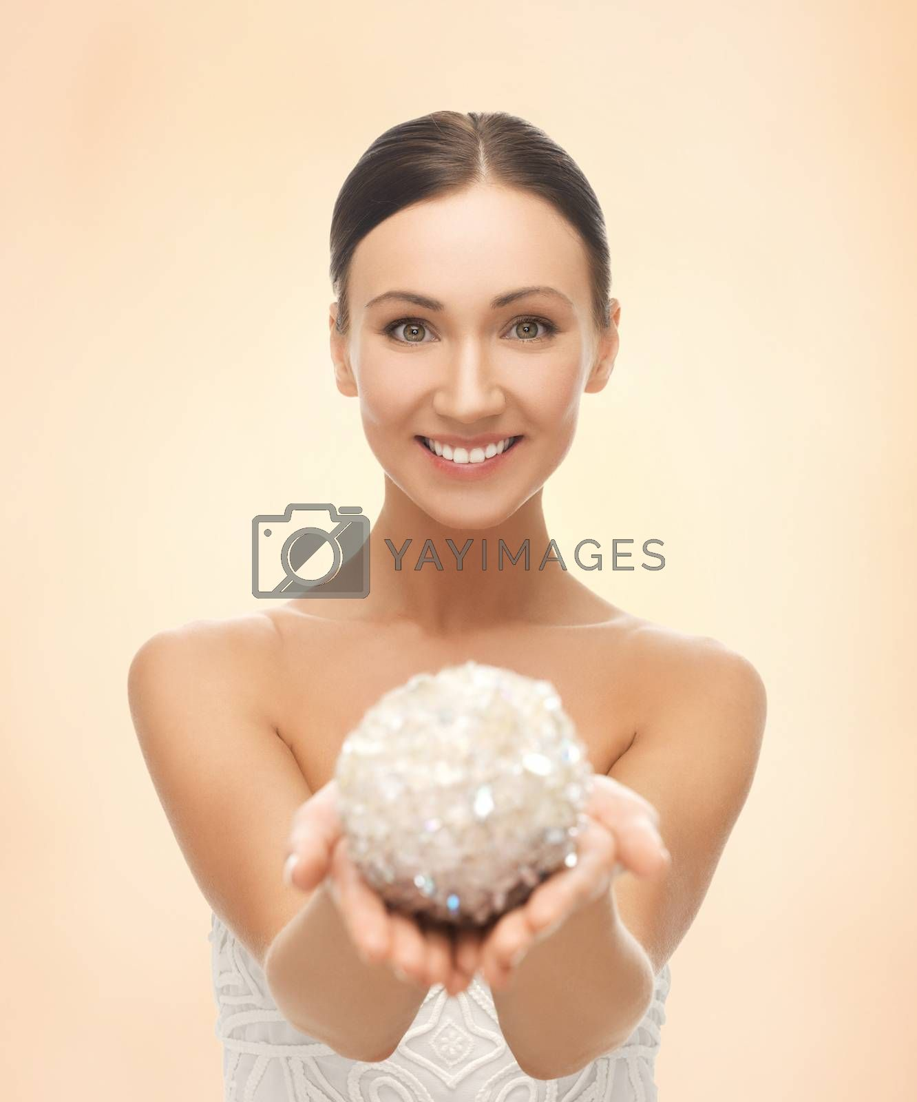 woman with sparkling ball by dolgachov