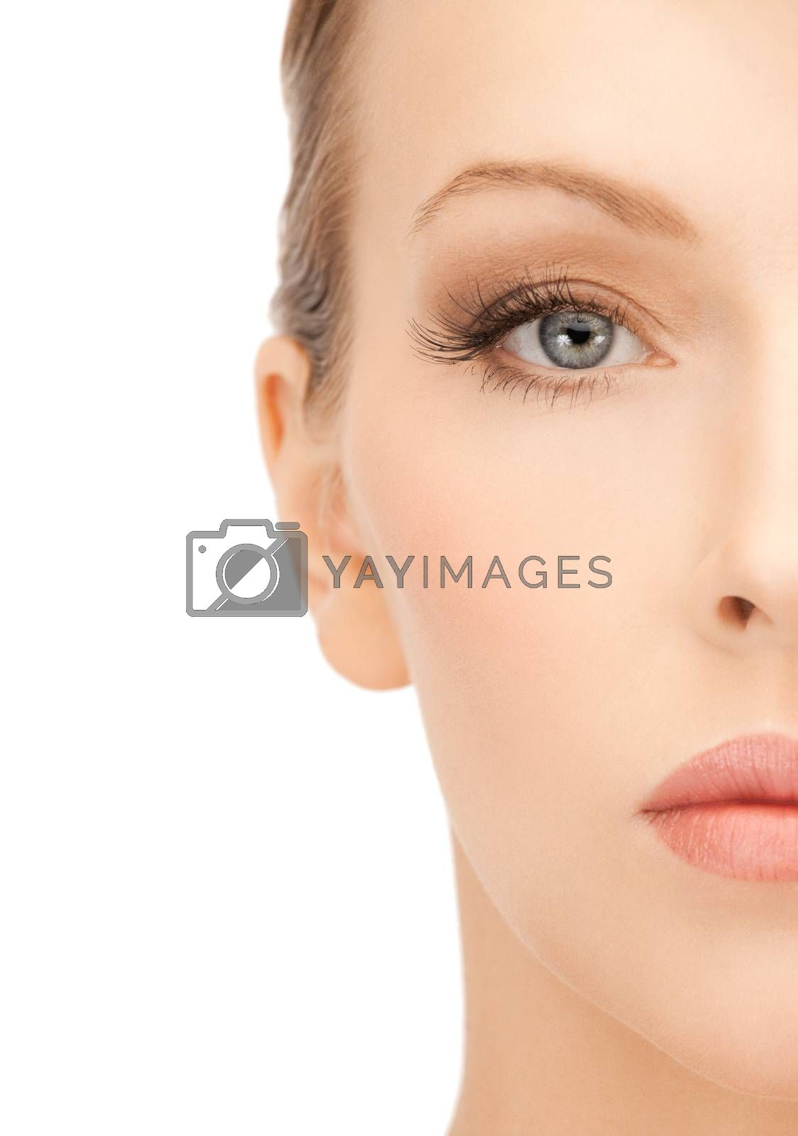 face of beautiful woman by dolgachov
