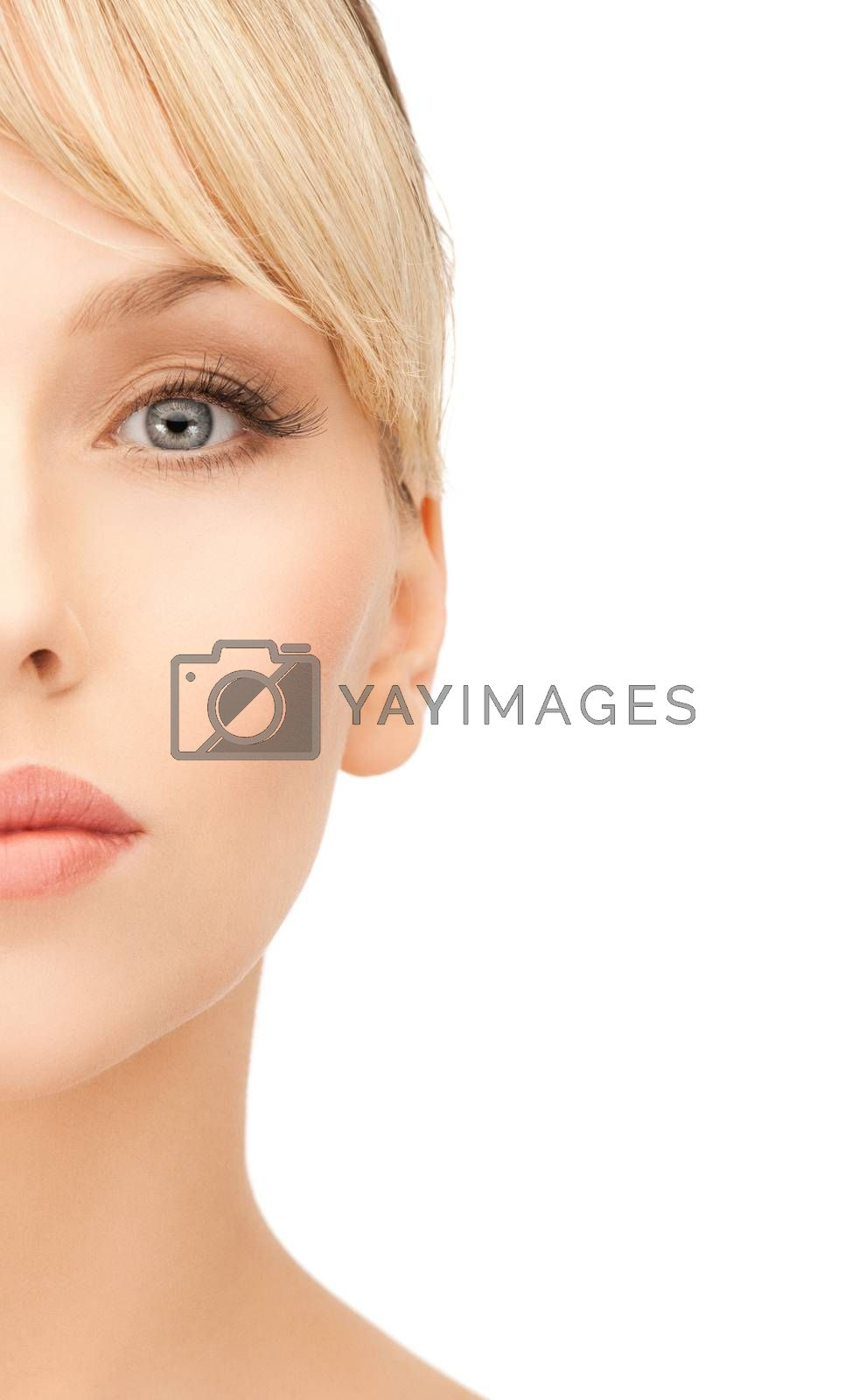beautiful woman with blonde hair by dolgachov