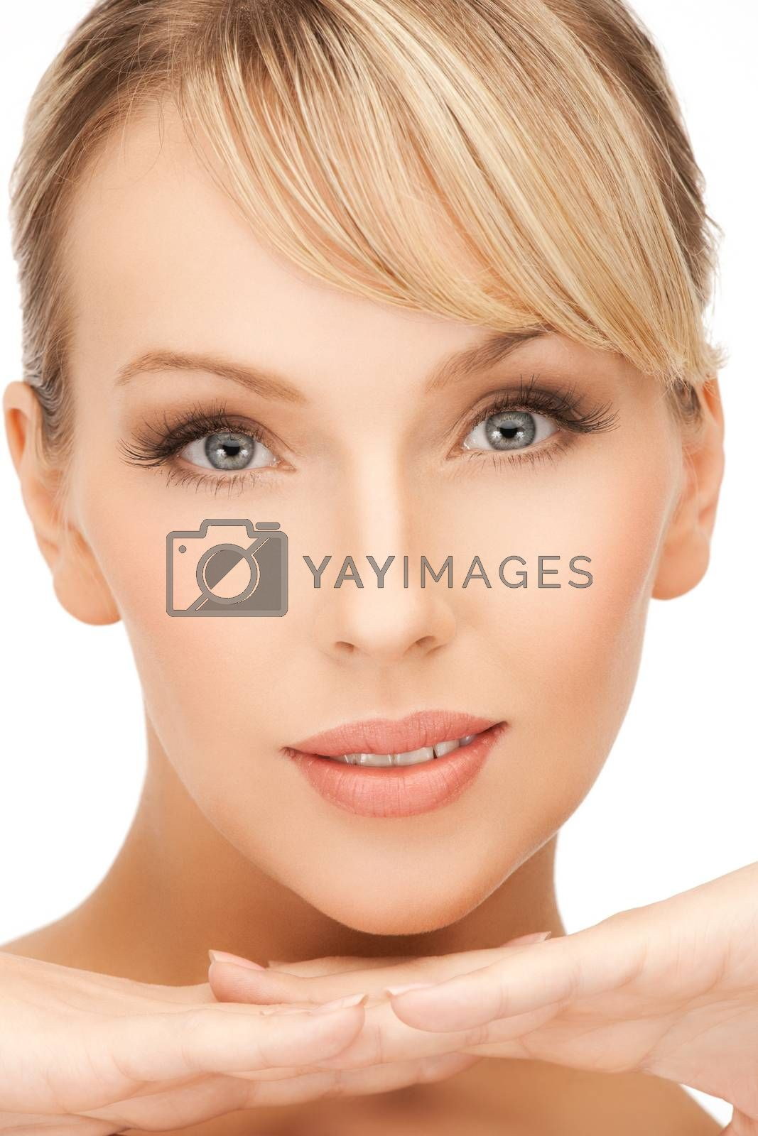 clean face of woman by dolgachov