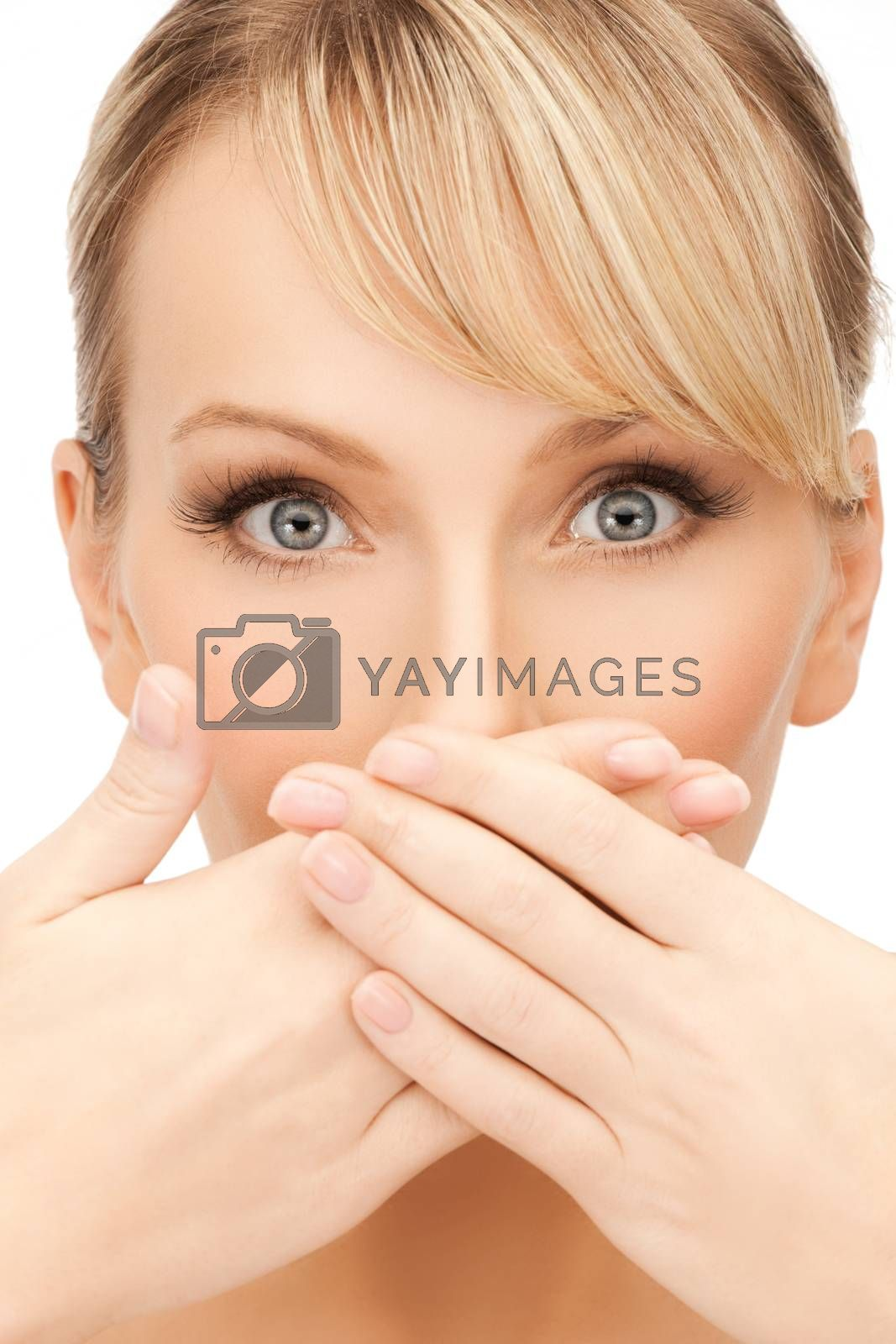 woman covering her mouth by dolgachov