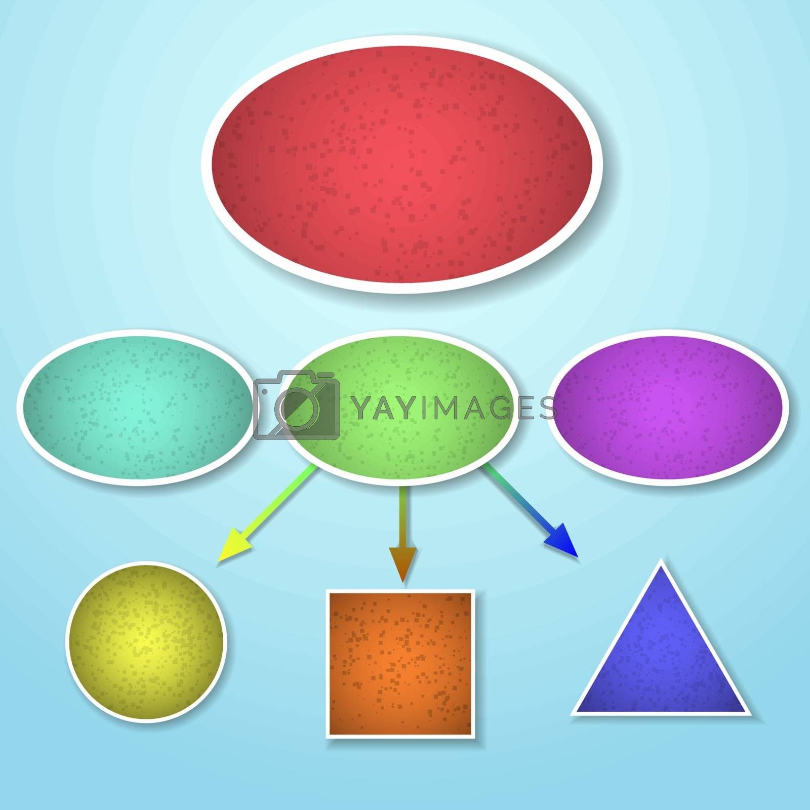 Mind mapping of different shape template, vector illustration