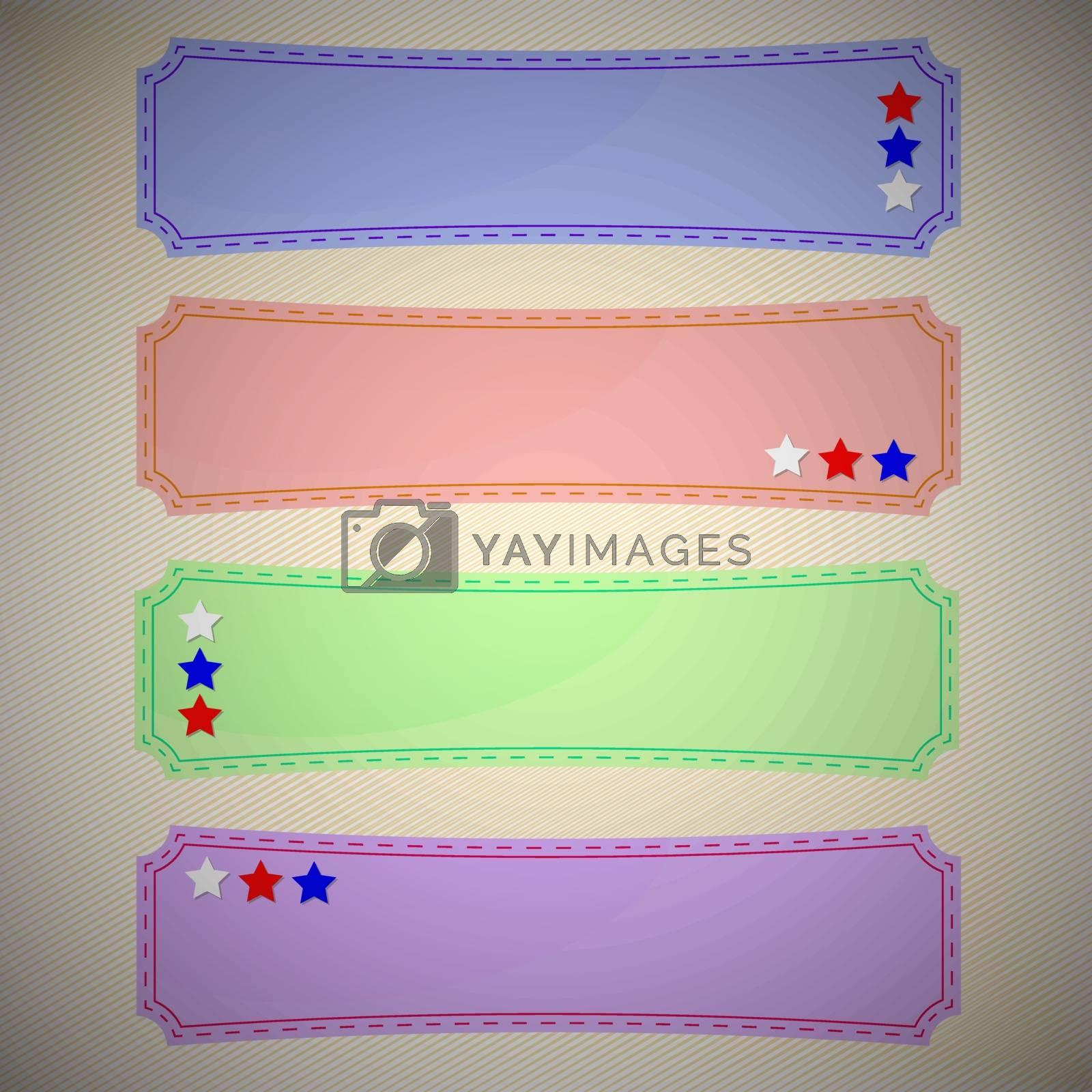 Set of colourful retro badges, vector illustration