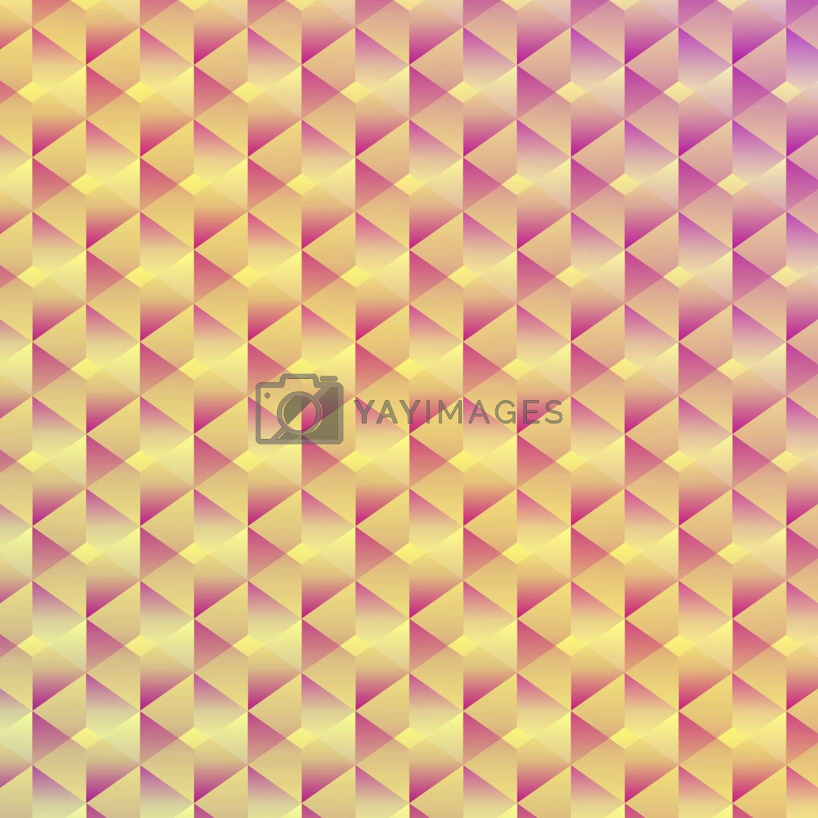 Abstract seamless geometric cubic background, vector illustration