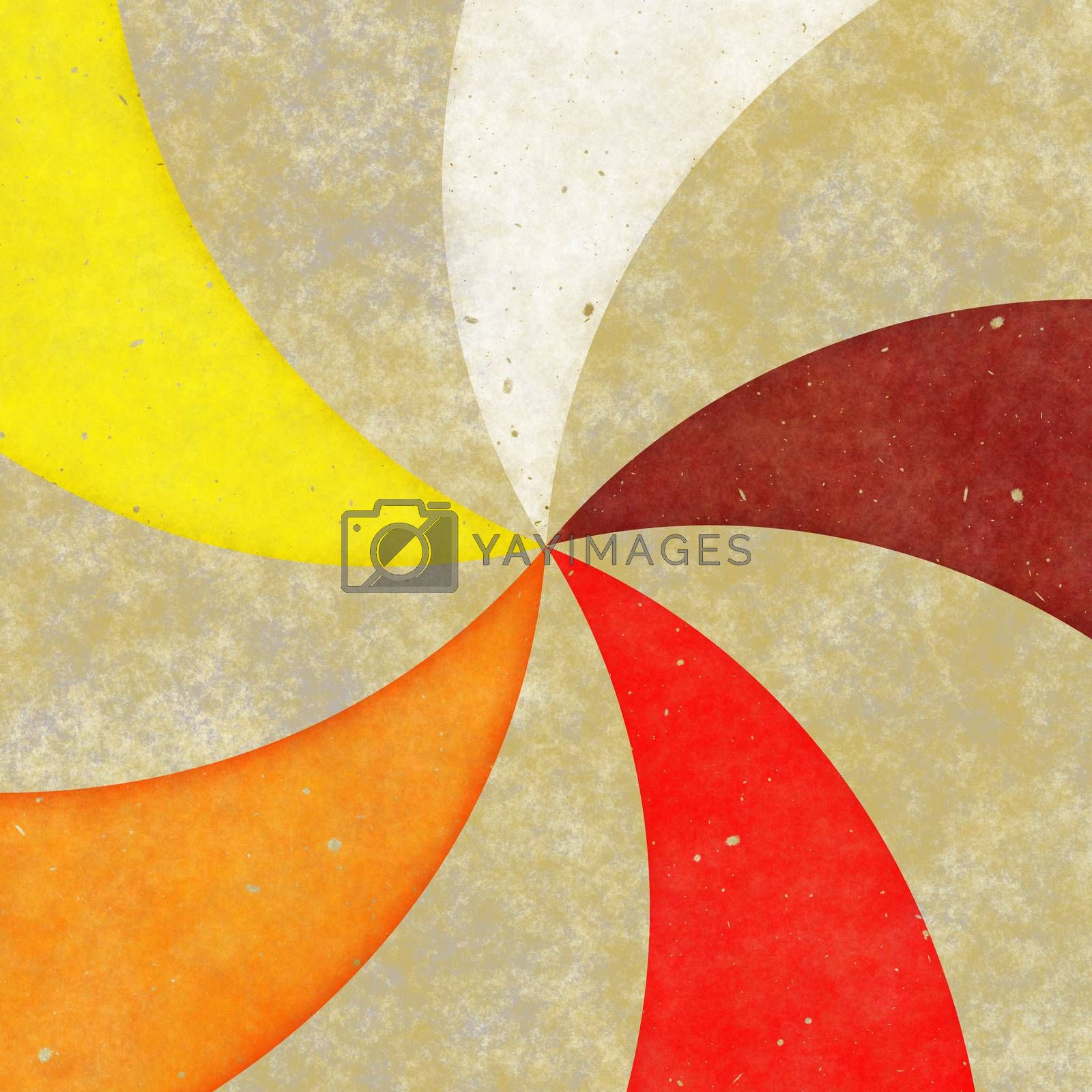 A retro or vintage looking rays pattern that works great as a background or backdrop.