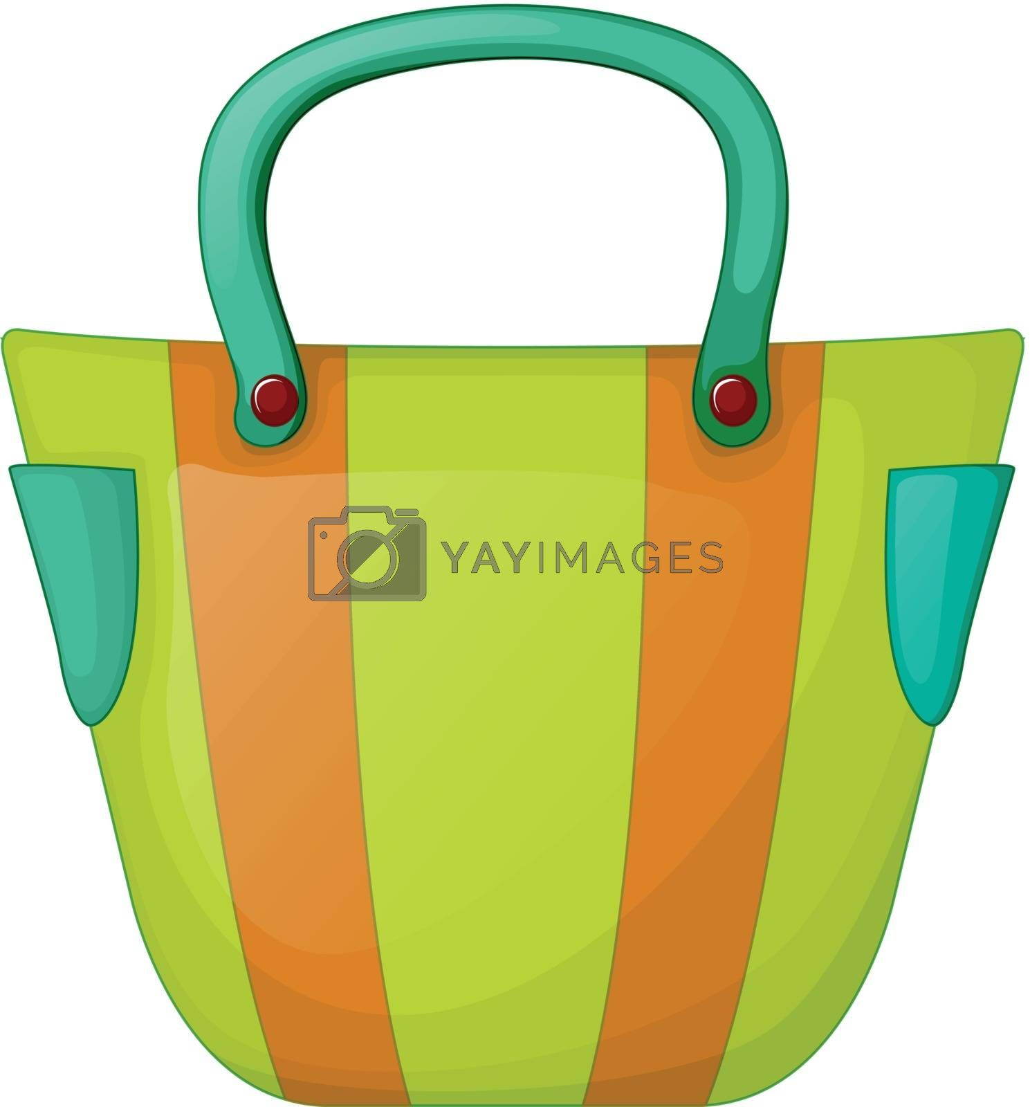 Illustration of a colorful fashion bag on a white background