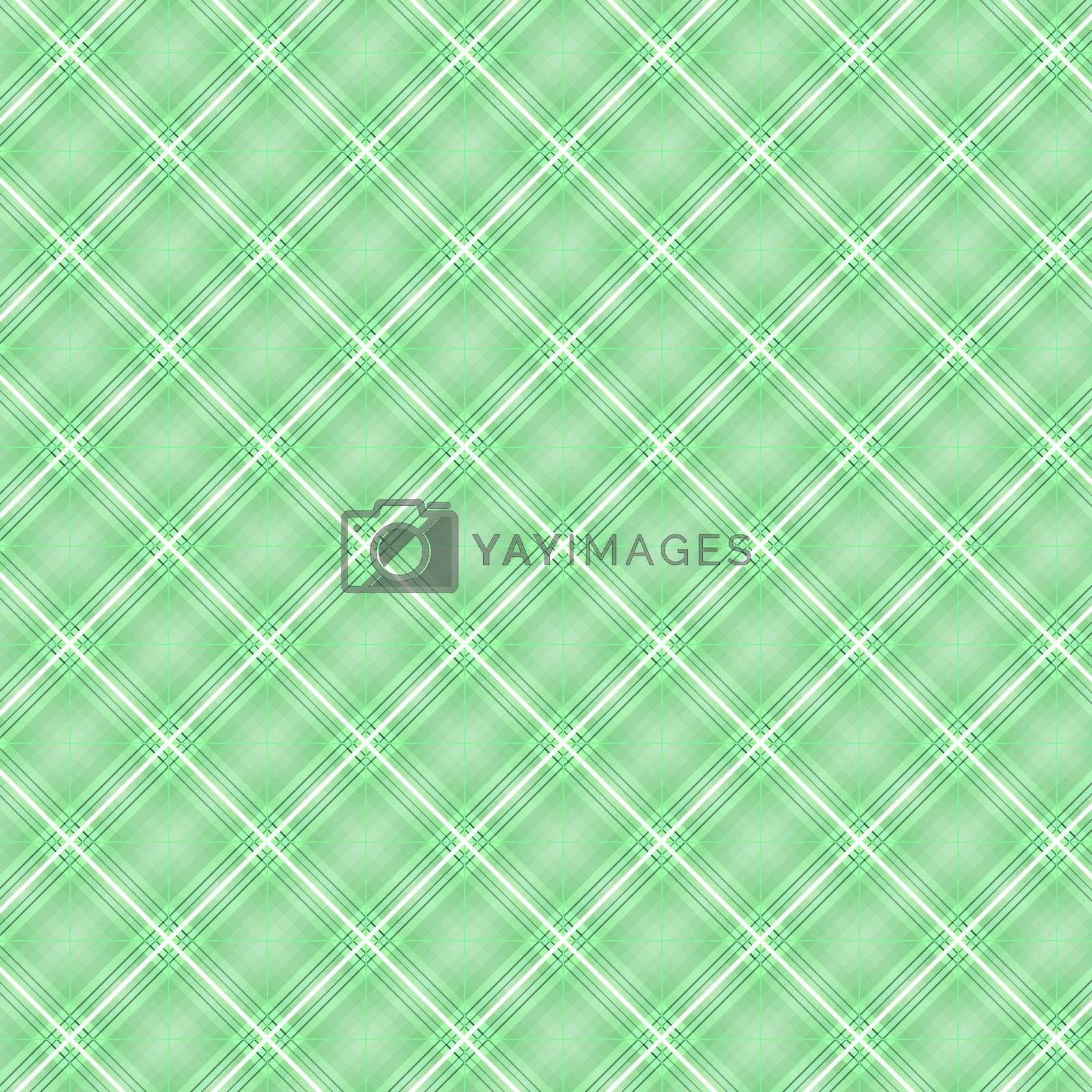 Seamless cross green shading diagonal pattern, vector illustration