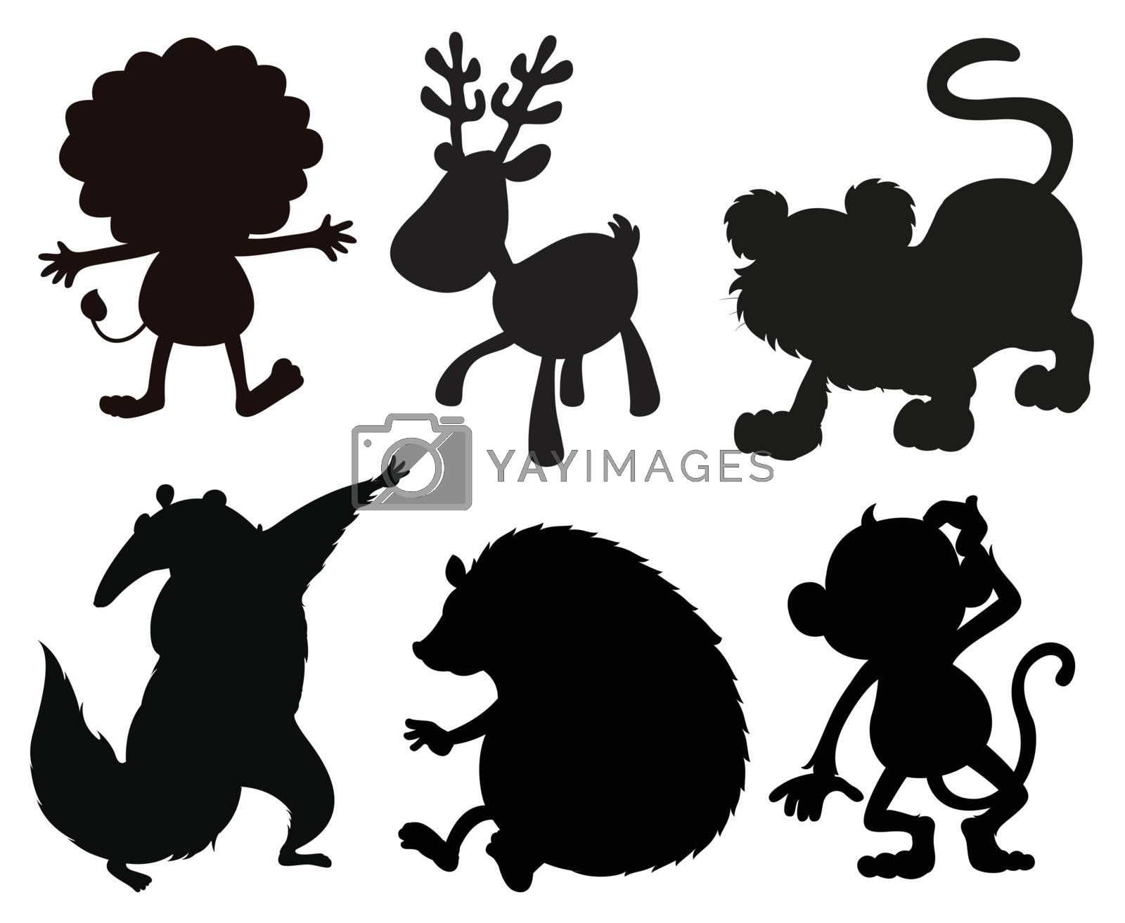 Silhouettes of animals by iimages