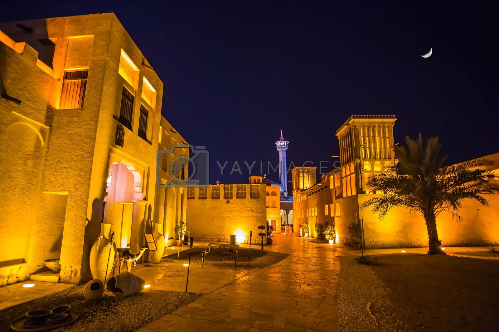Arab Street in the old part of Dubai, UAE