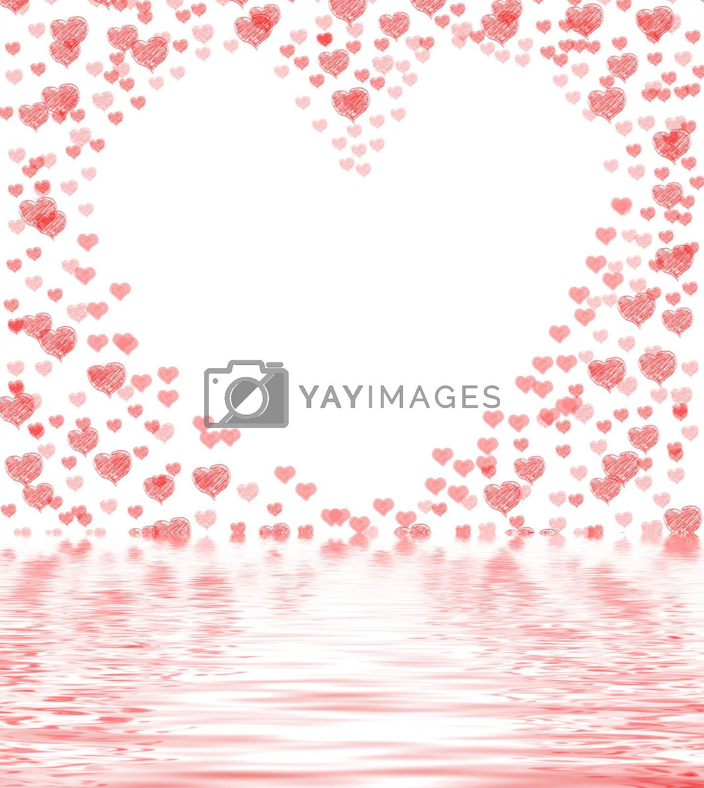 Royalty free image of Heart Cut From Background Displays Lovely Marriage Or Passionate by stuartmiles