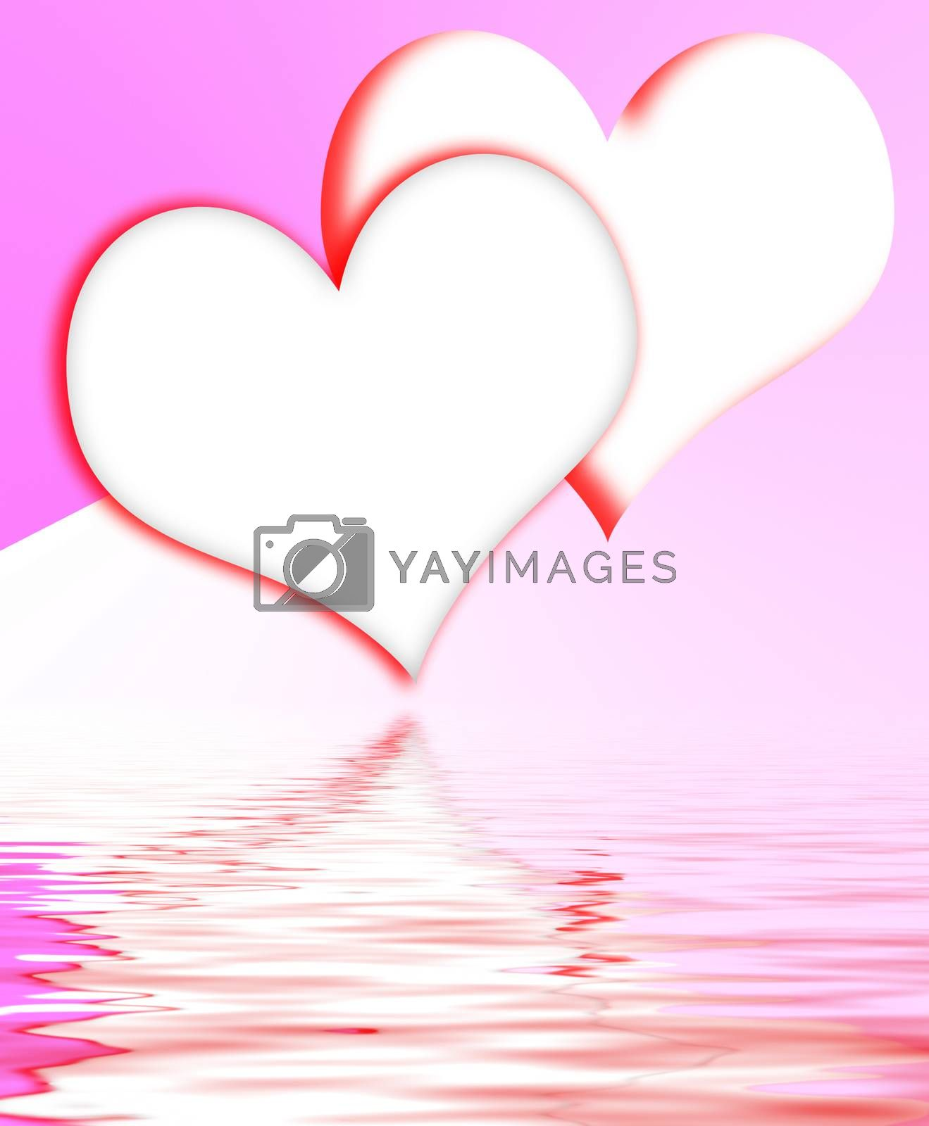 Royalty free image of Intertwined Hearts Displays Romantic Couple And Marriage by stuartmiles