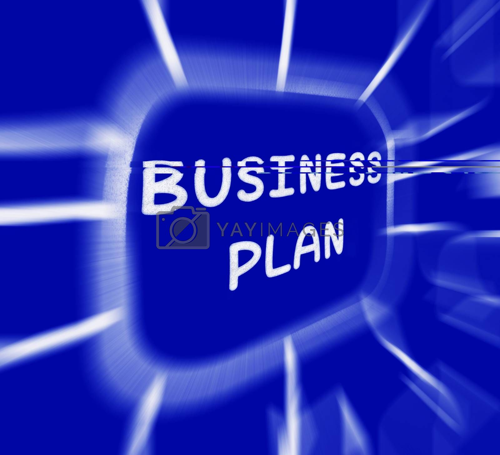 Royalty free image of Business Plan Diagram Displays Company Organization And Strategy by stuartmiles