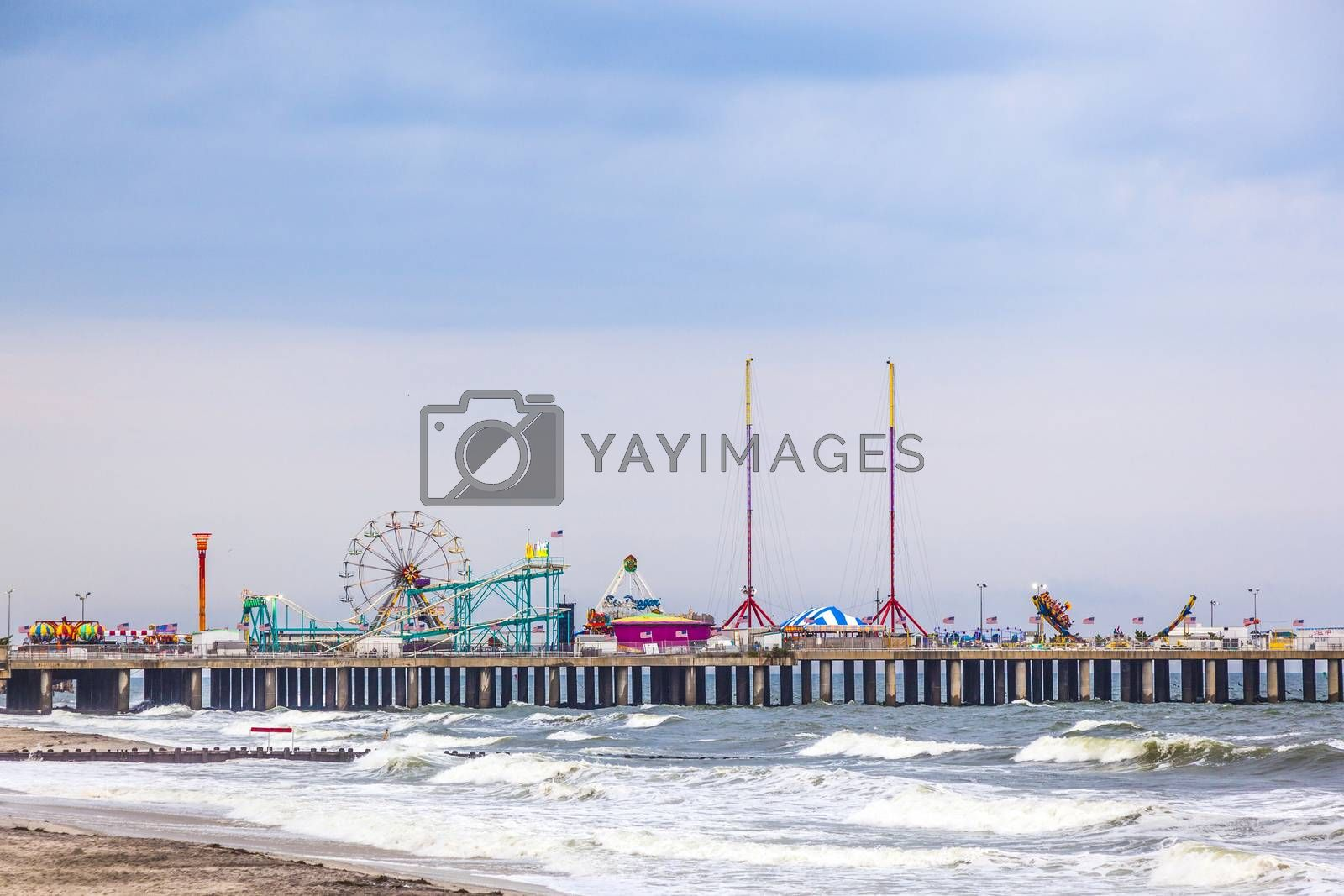 Royalty free image of Amuesment Park at Steel Pier Atlantic City, NJ  by meinzahn