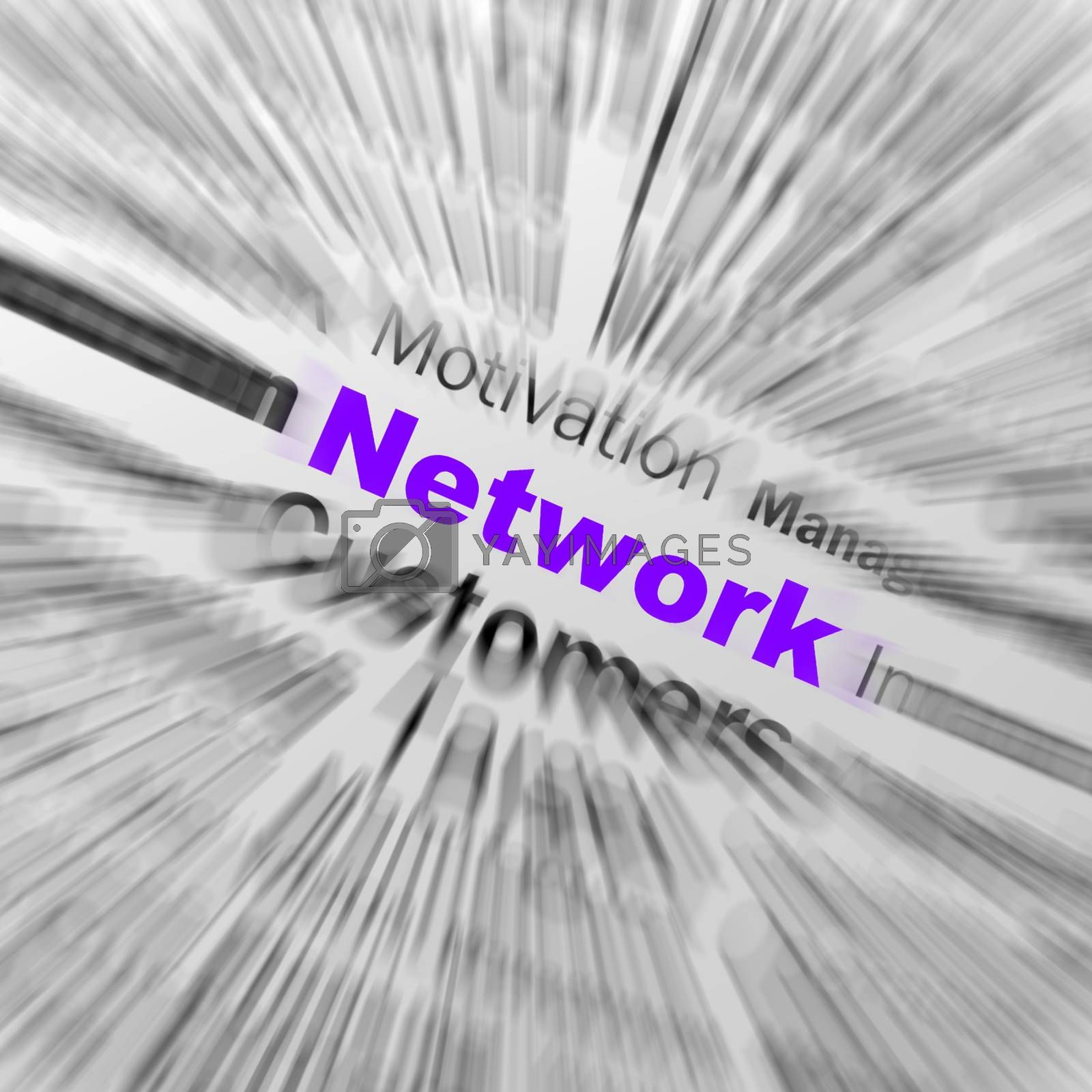 Royalty free image of Network Sphere Definition Displays Global Communications And Onl by stuartmiles