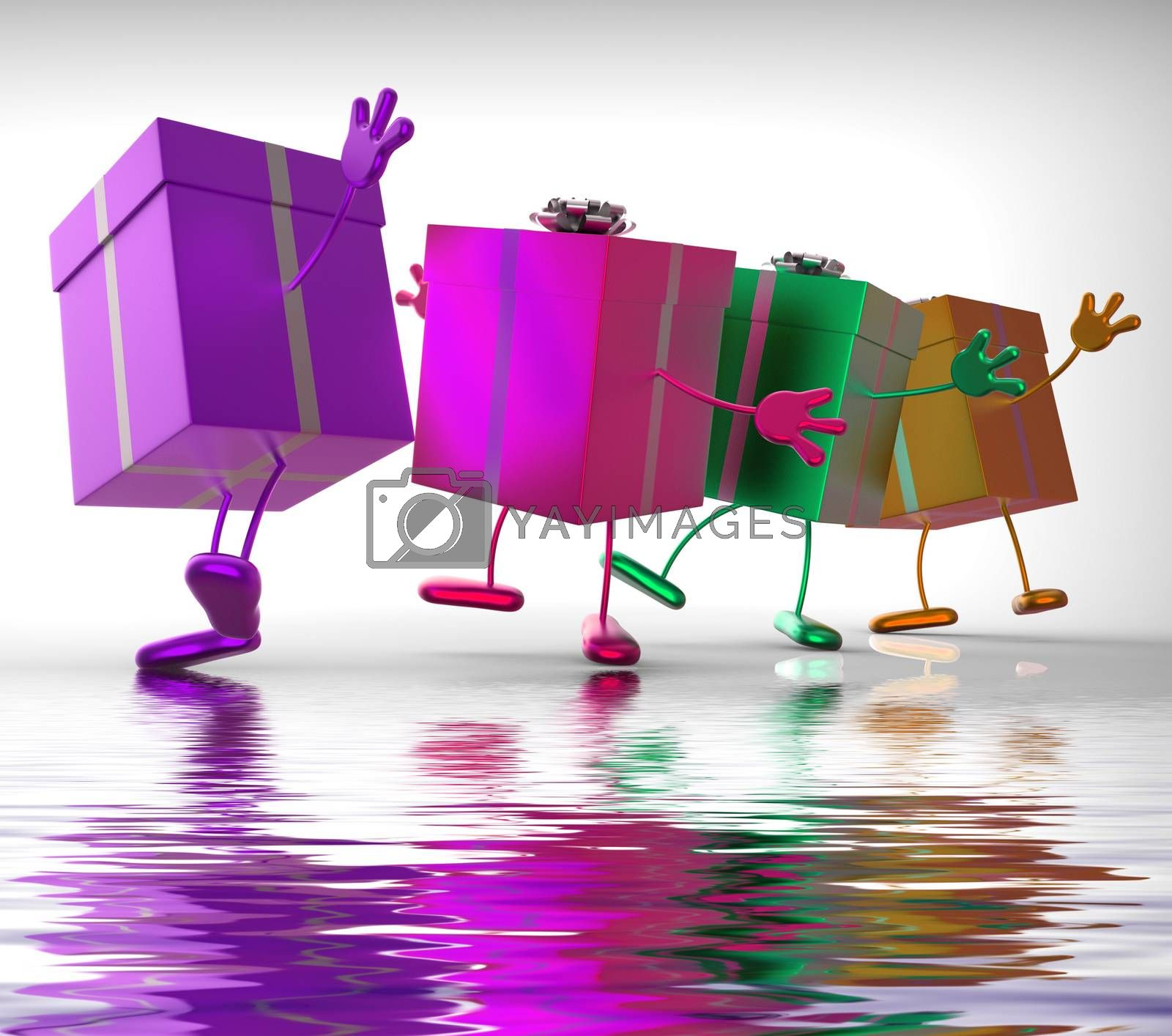 Royalty free image of Presents Displays Buy Gift For Special Occasion by stuartmiles