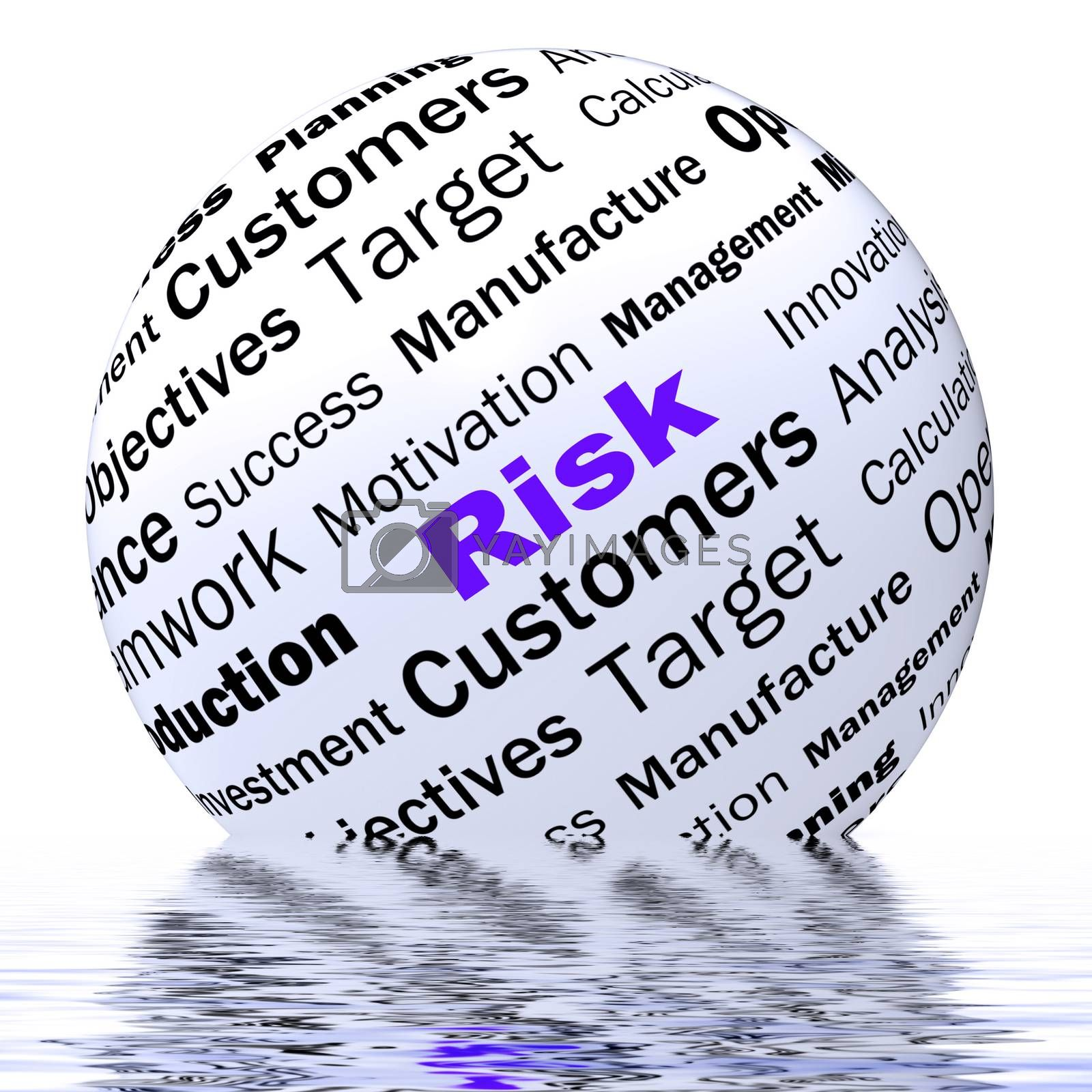 Royalty free image of Risk Sphere Definition Displays Dangerous And Unstable by stuartmiles