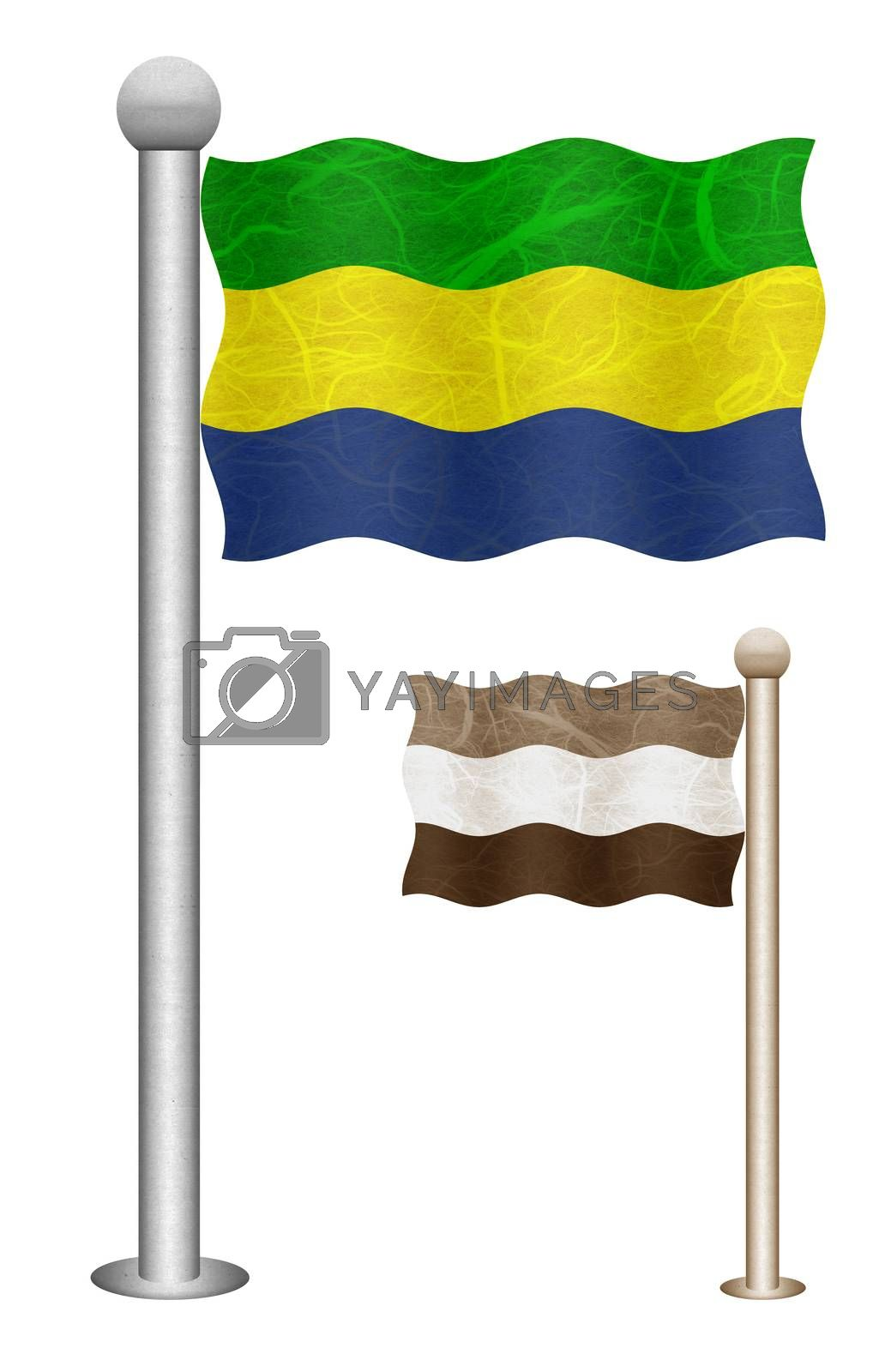 Royalty free image of Flag pole recycled paper  by thanarat27