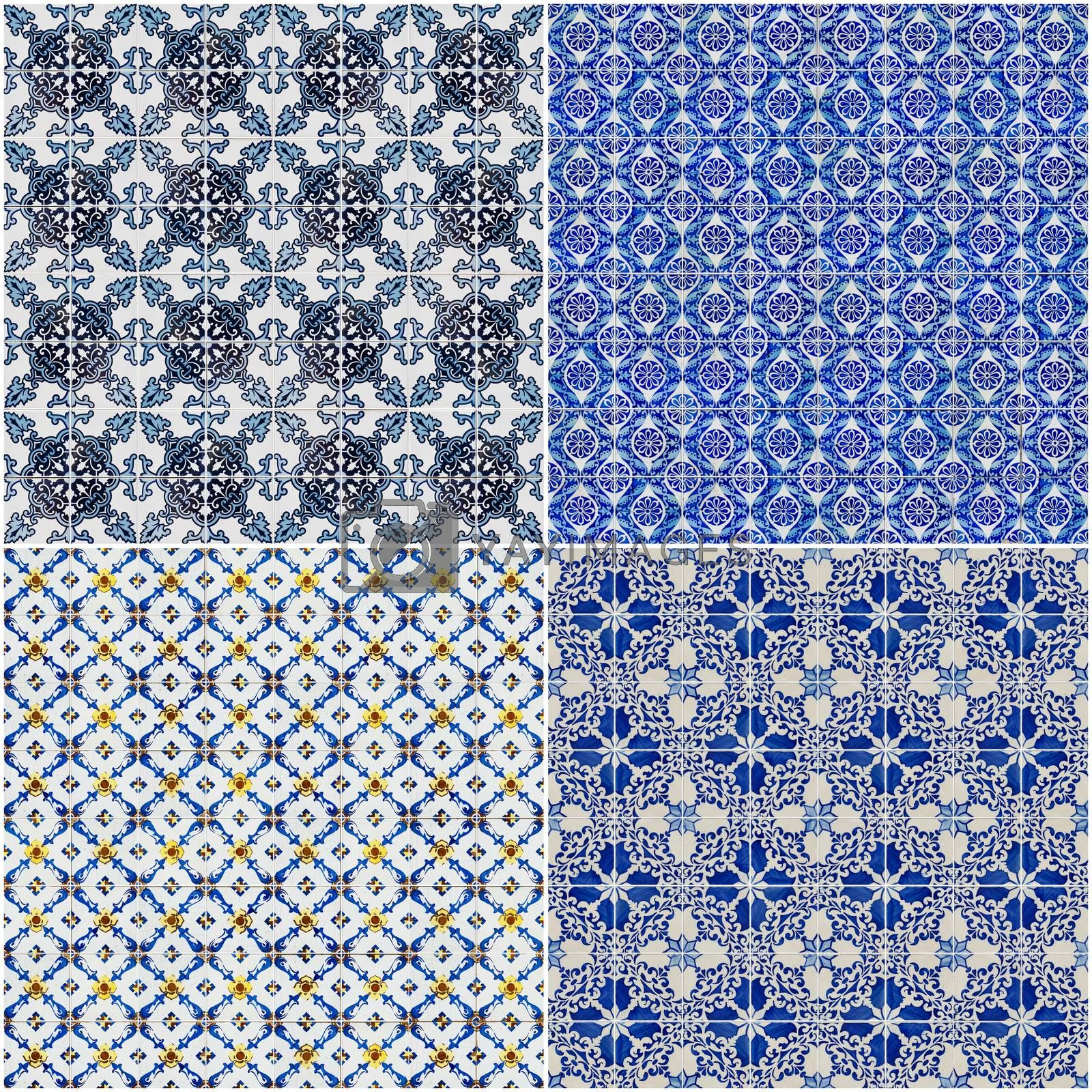 Royalty free image of Set of four ceramic tiles patterns by homydesign